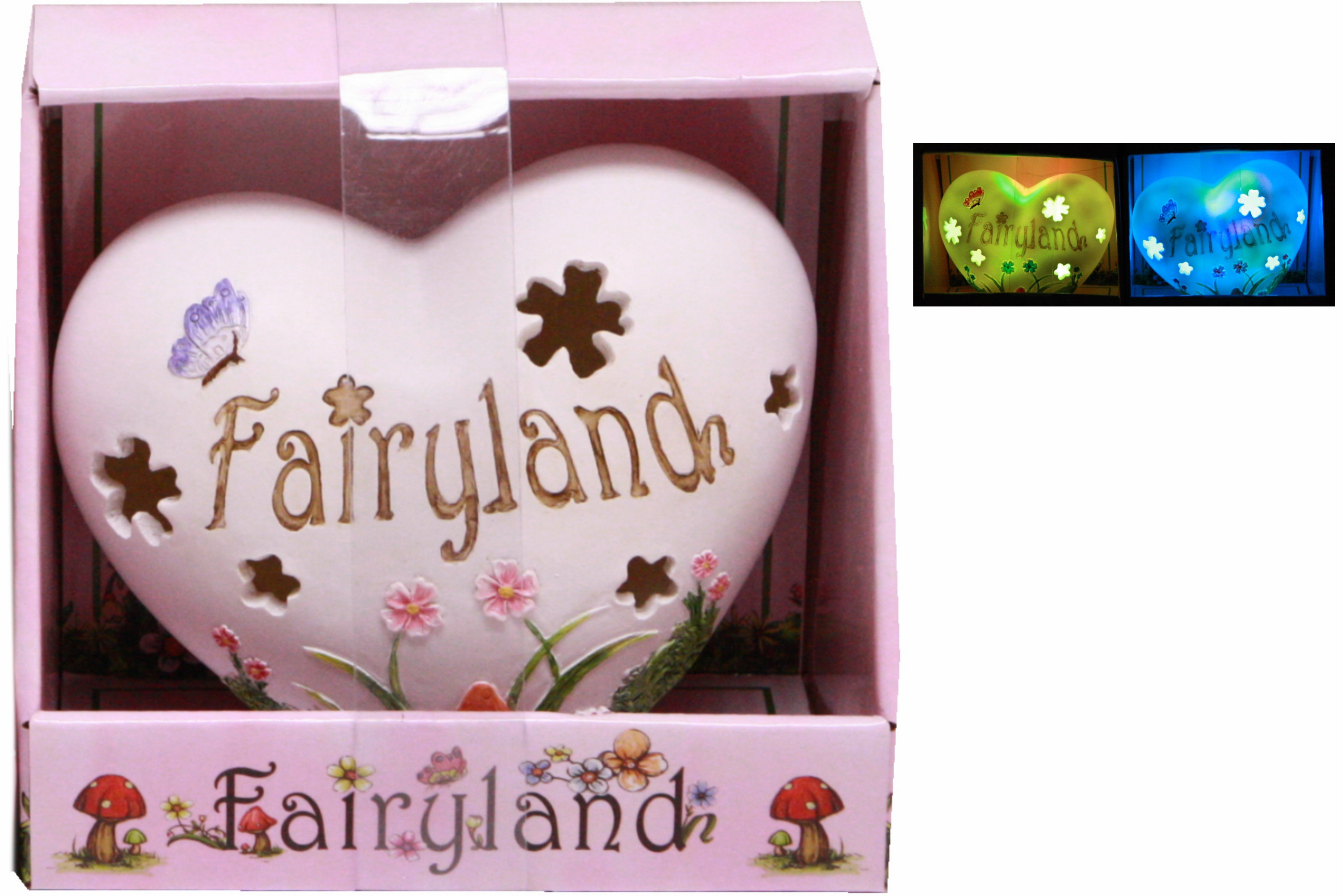 Fairyland Light Up Heart In Open Touch Box