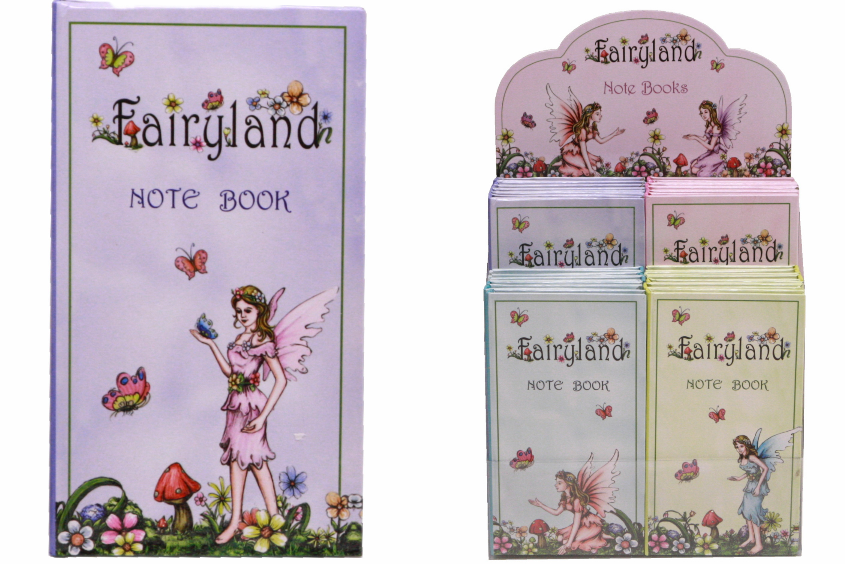 Fairyland Notebooks In Display Box 4 Assorted