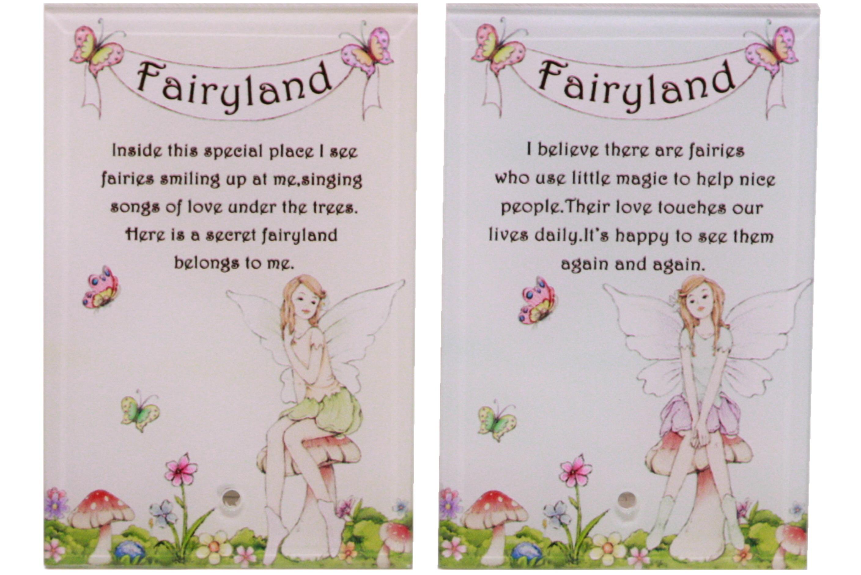 Fairyland Glass Plaque In White Box