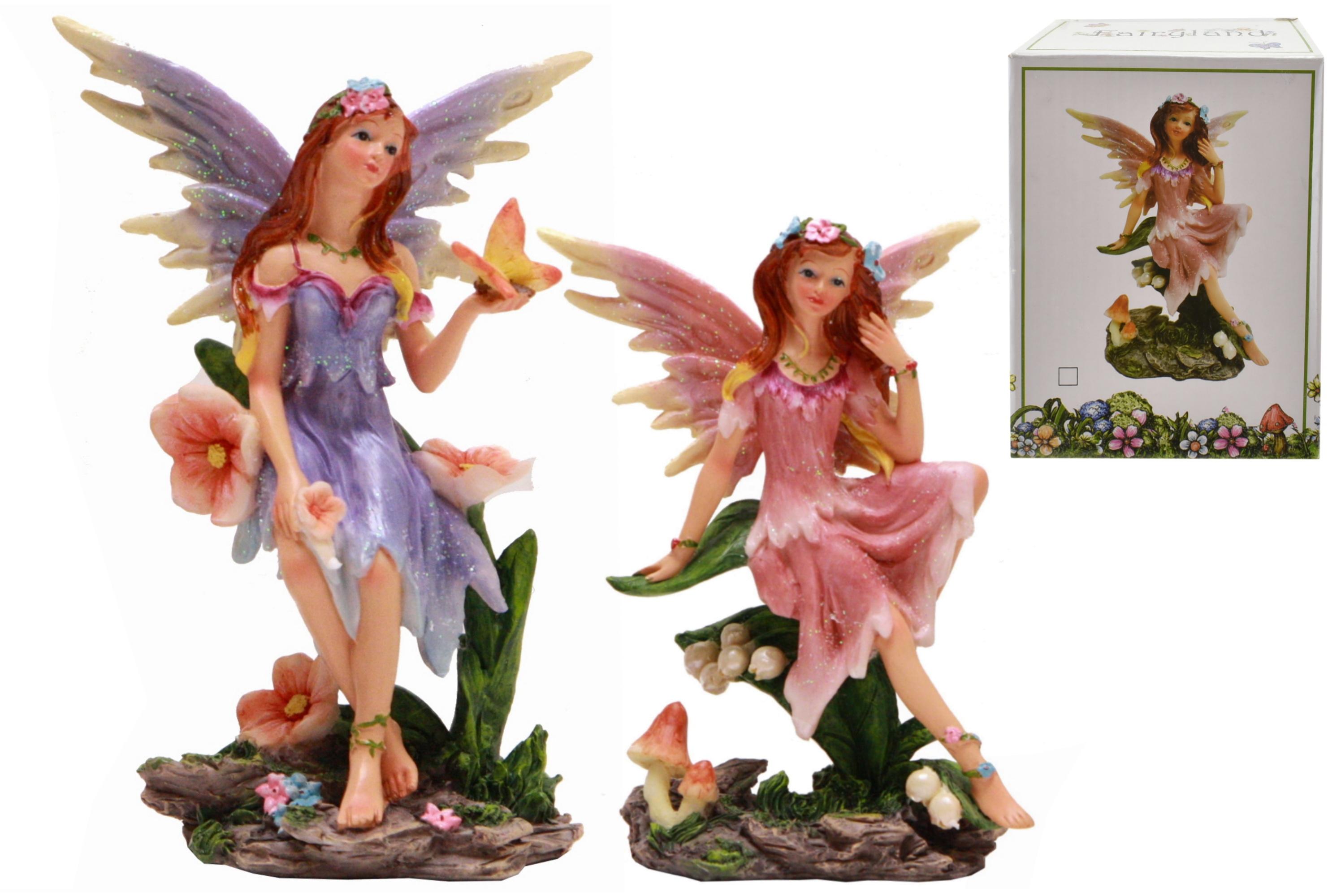 Fairyland Fairy Figurine Holding (2 Asst) In Colour Box
