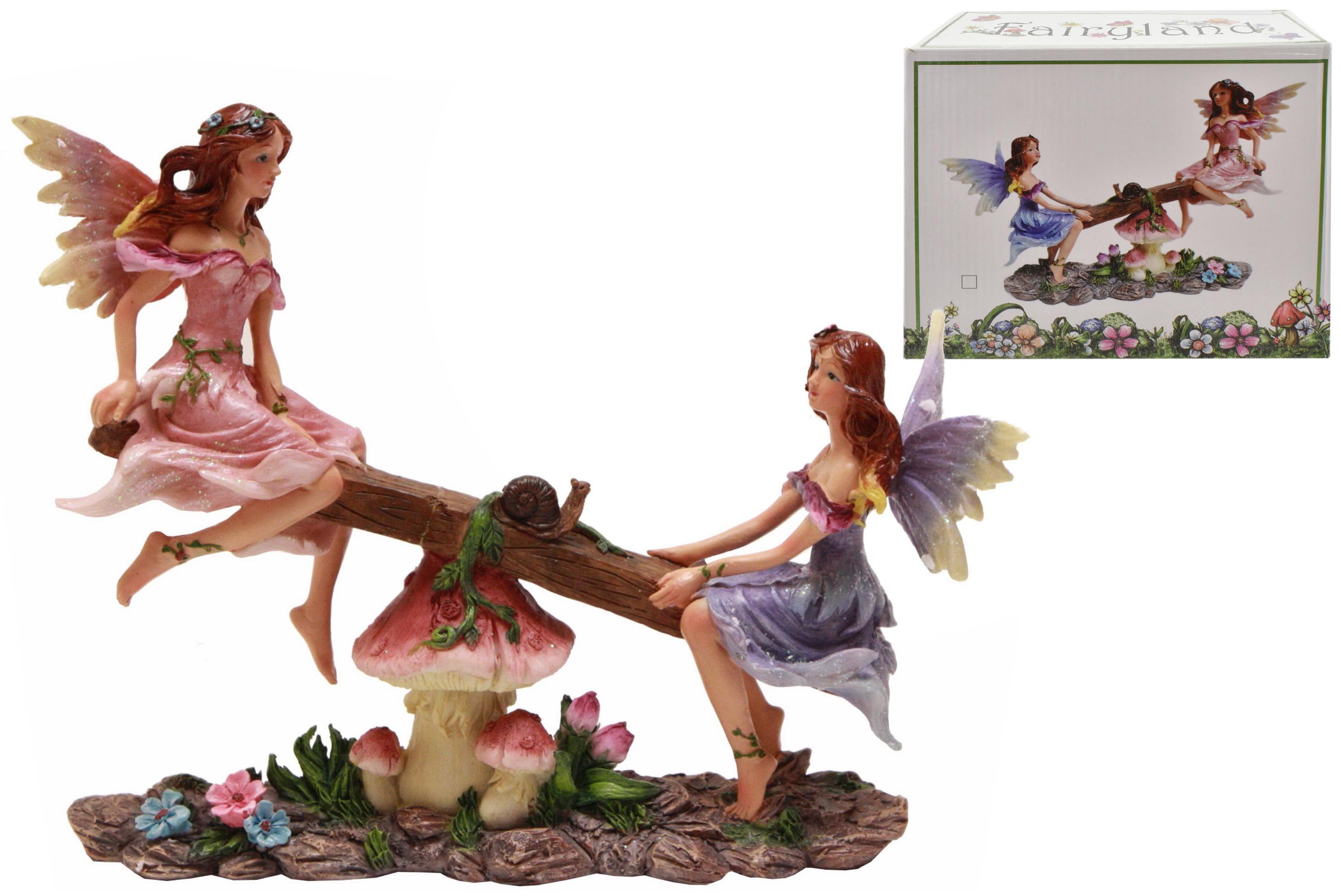 Fairyland Sea-Saw Polyresin Figurine In Colour Box