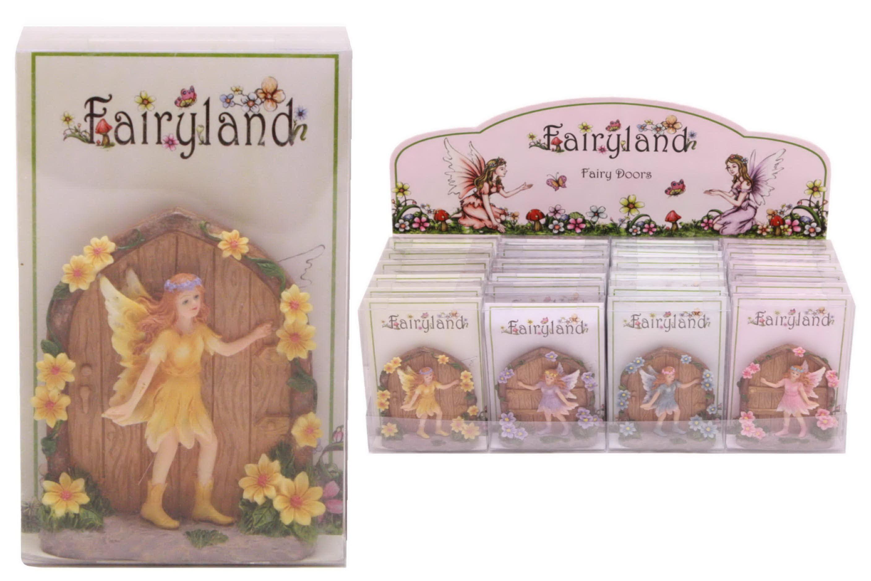 Fairyland Fairy Door In Acetate Box In Dbx 4 Assorted