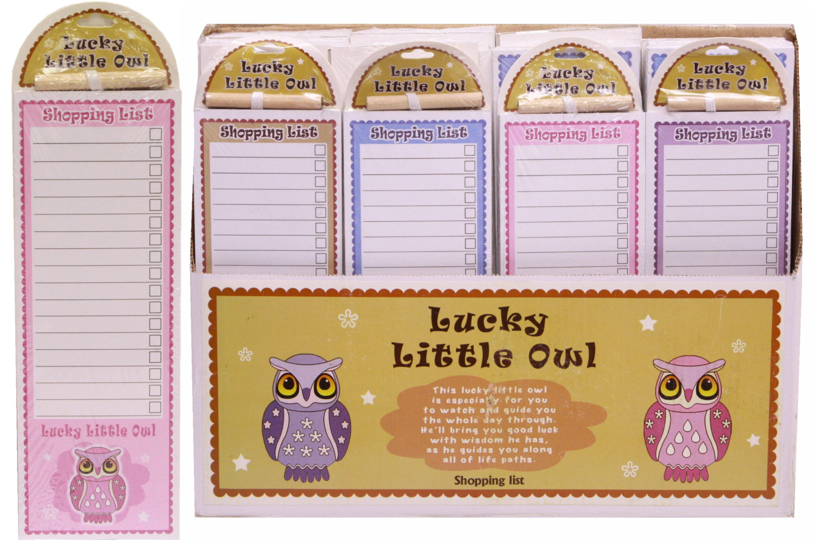 Lucky Owl Magnetic Shopping List In Display Box
