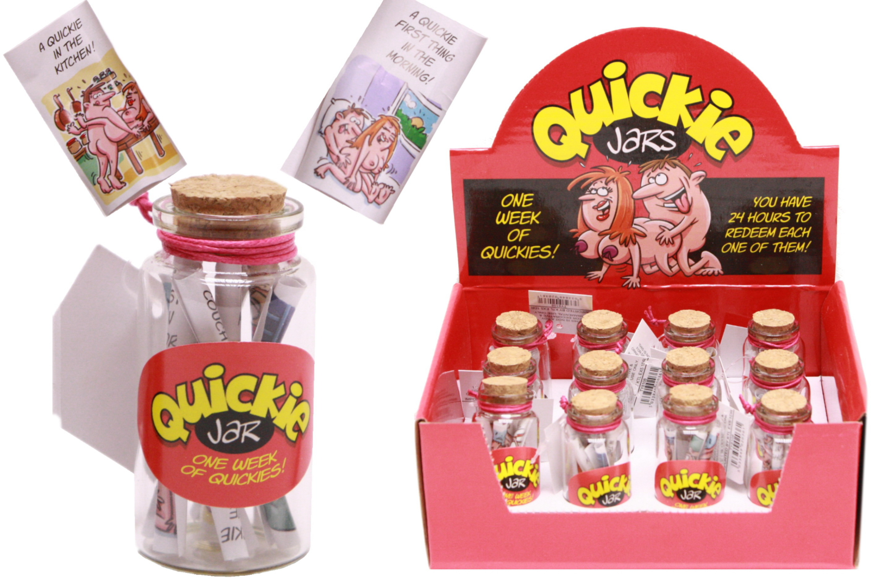 Quickie Jars In Display Box