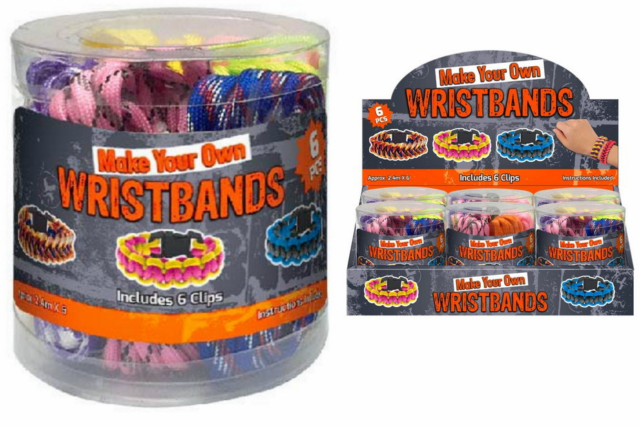 6pc Paracord With 6 Clips In Plastic Tub / Display Box