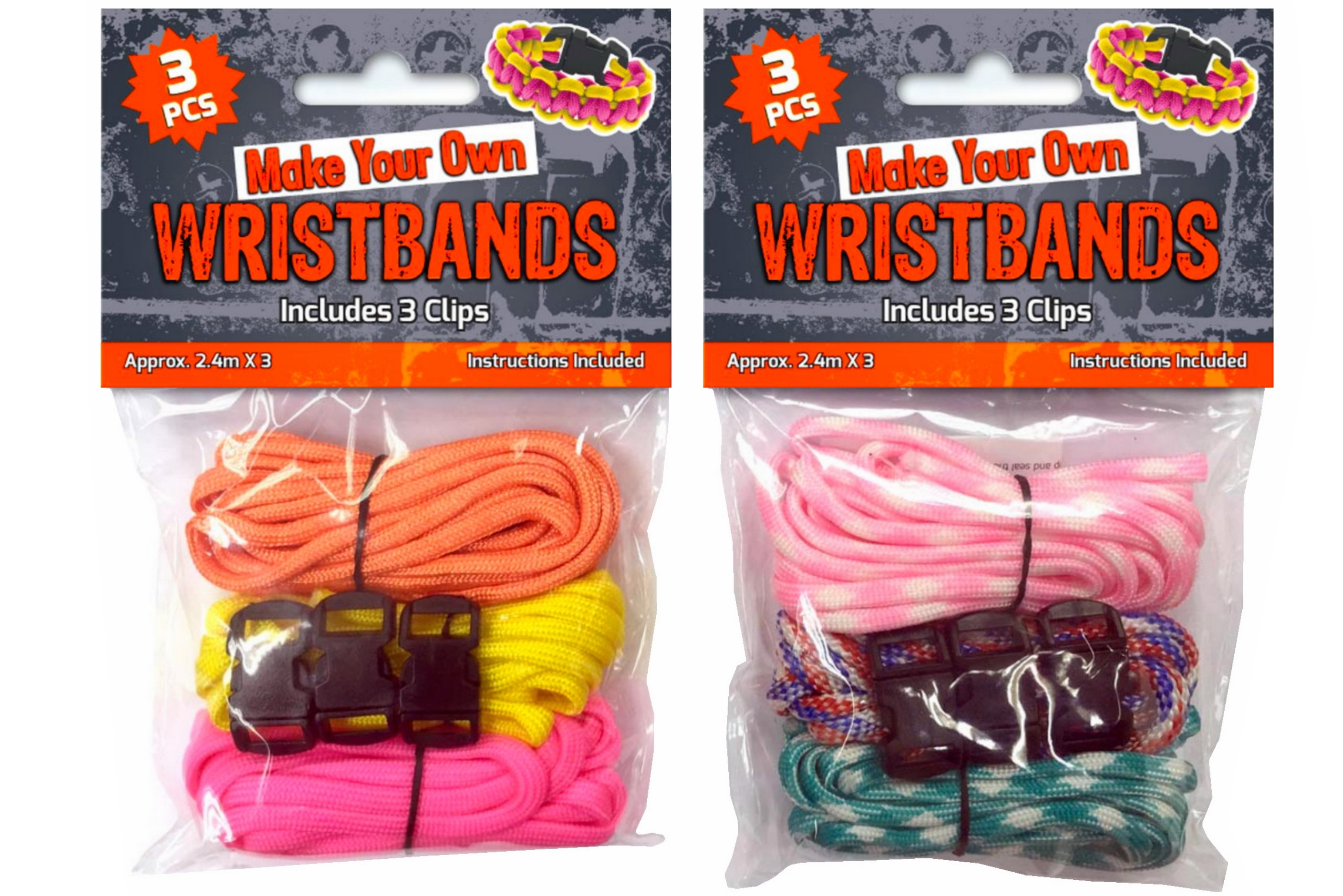 3pc Paracord With 3 Clips In Polybag Header