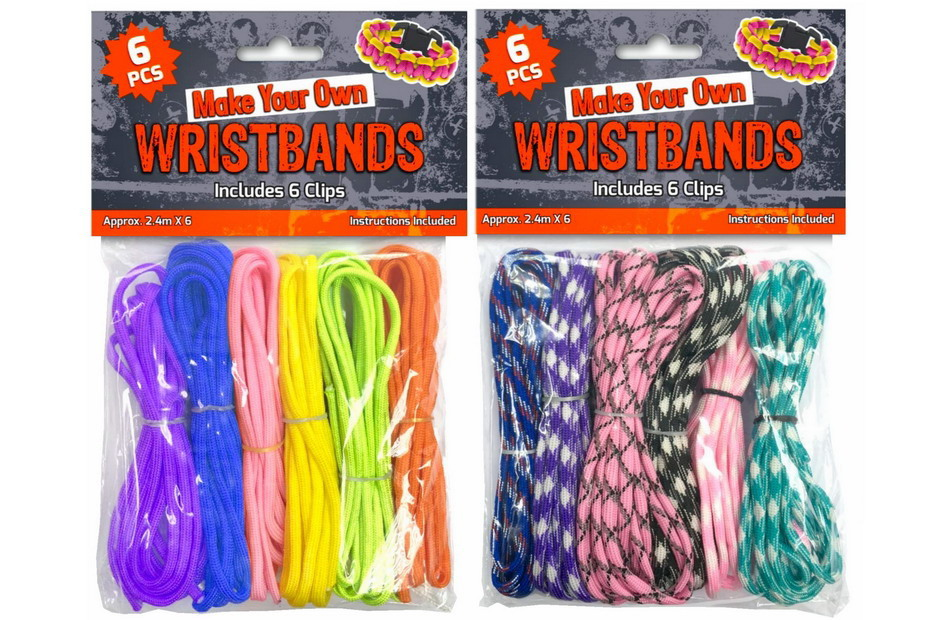 6pc Paracord With 6 Clips In Polybag Header