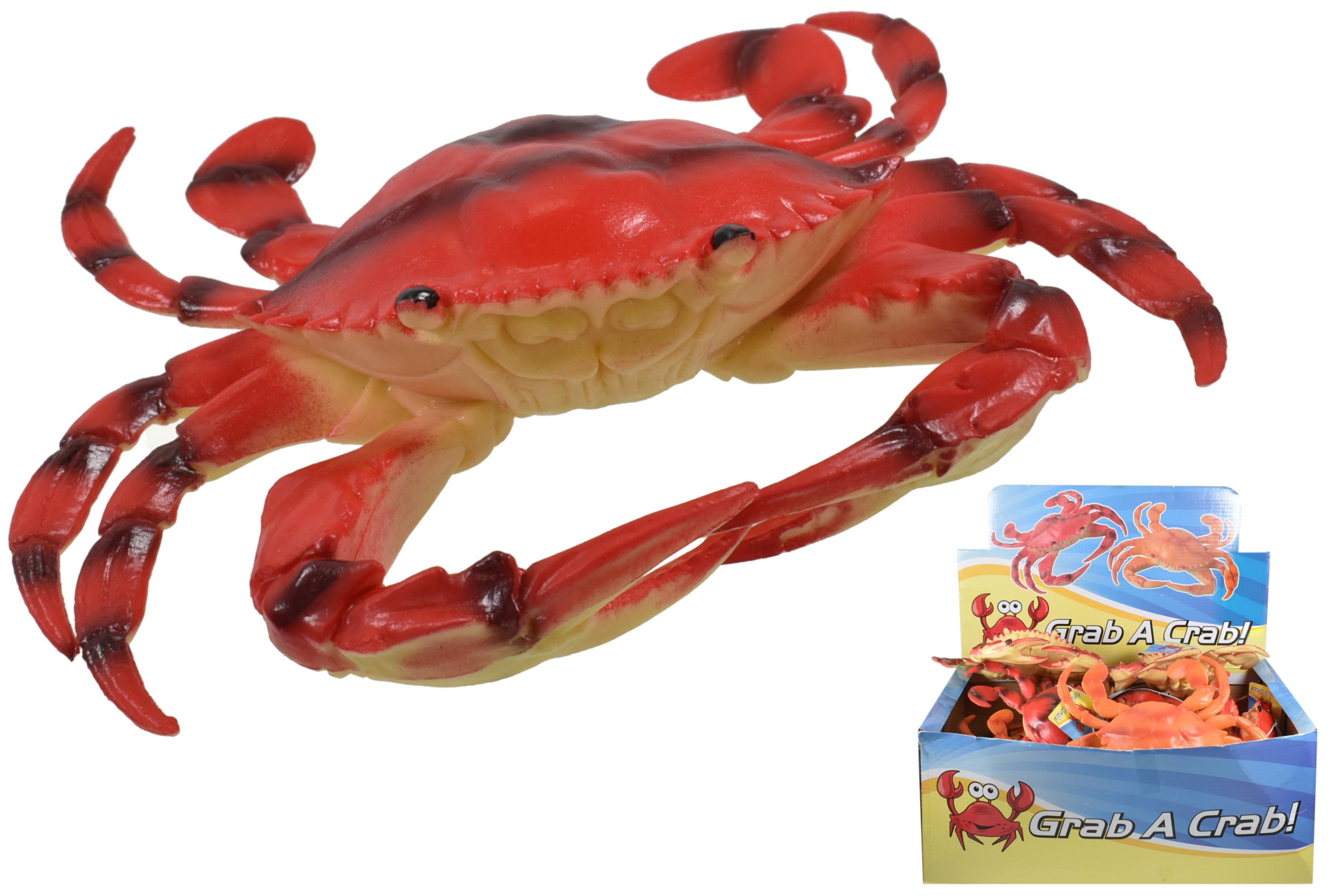 "10"" Pvc Crab In Display Box"