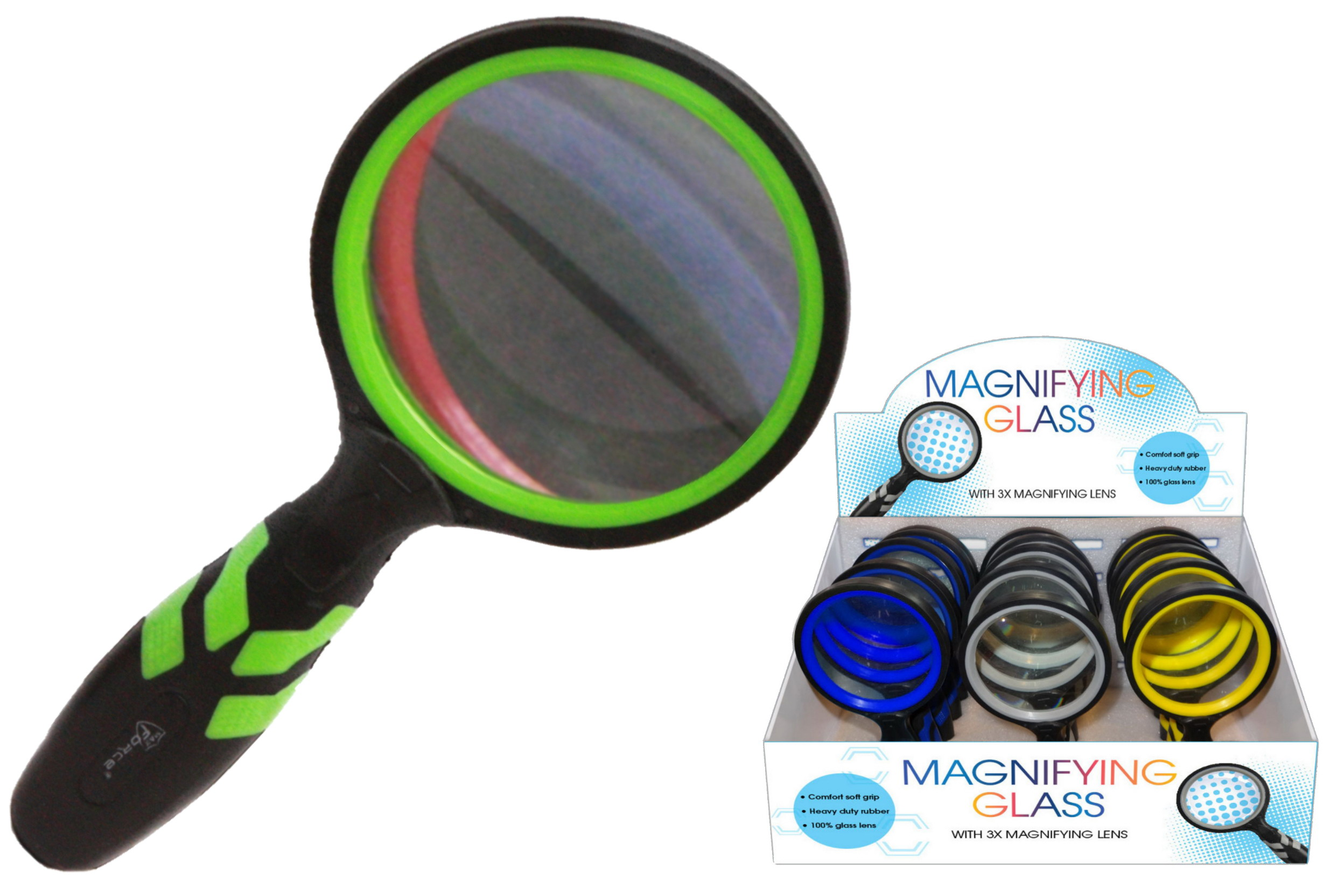 Magnifying Glass With 3x Magnifying Lens In Display Box