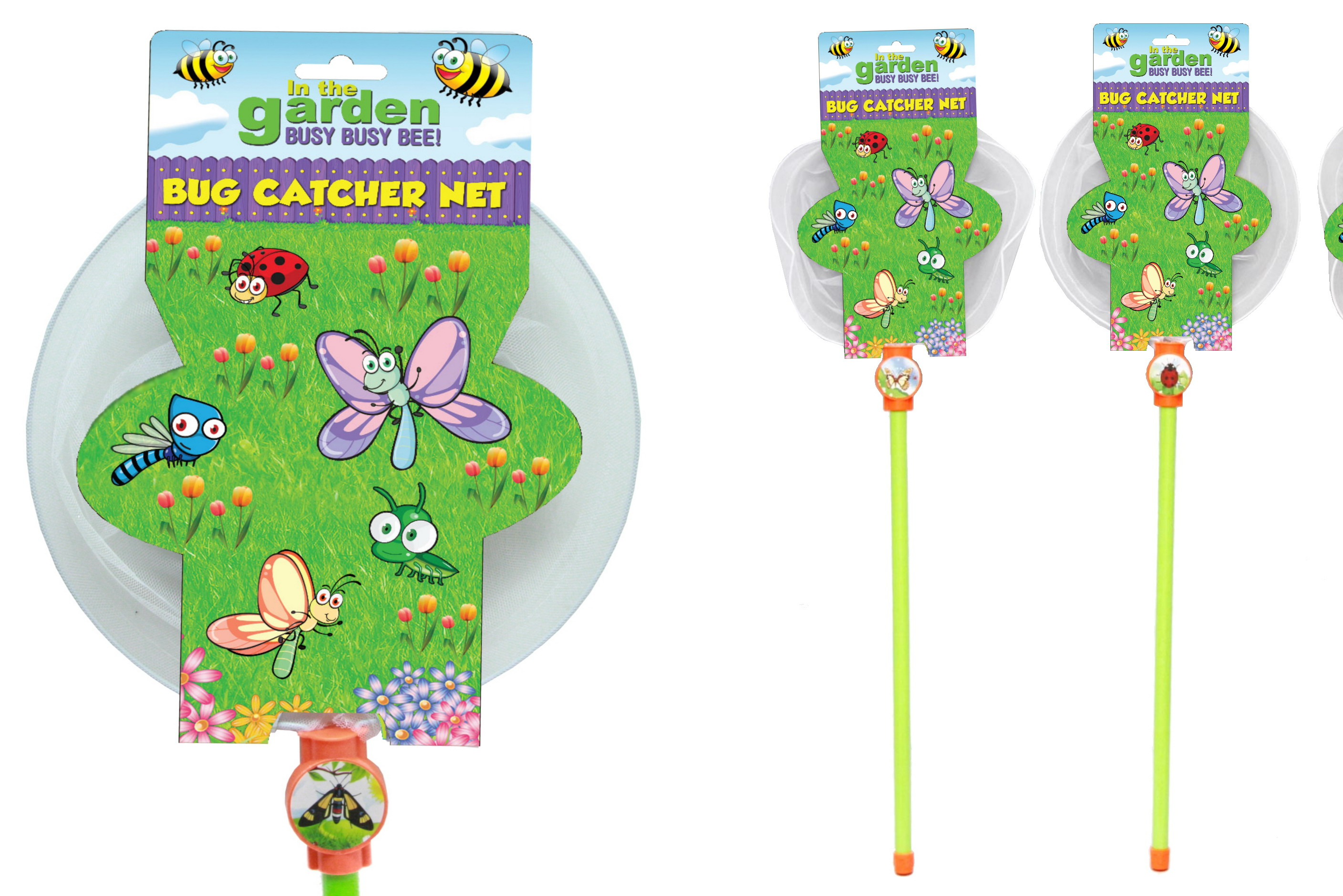 "Bug Catcher Net (3 Asst) On Hangcard ""In The Garden"""