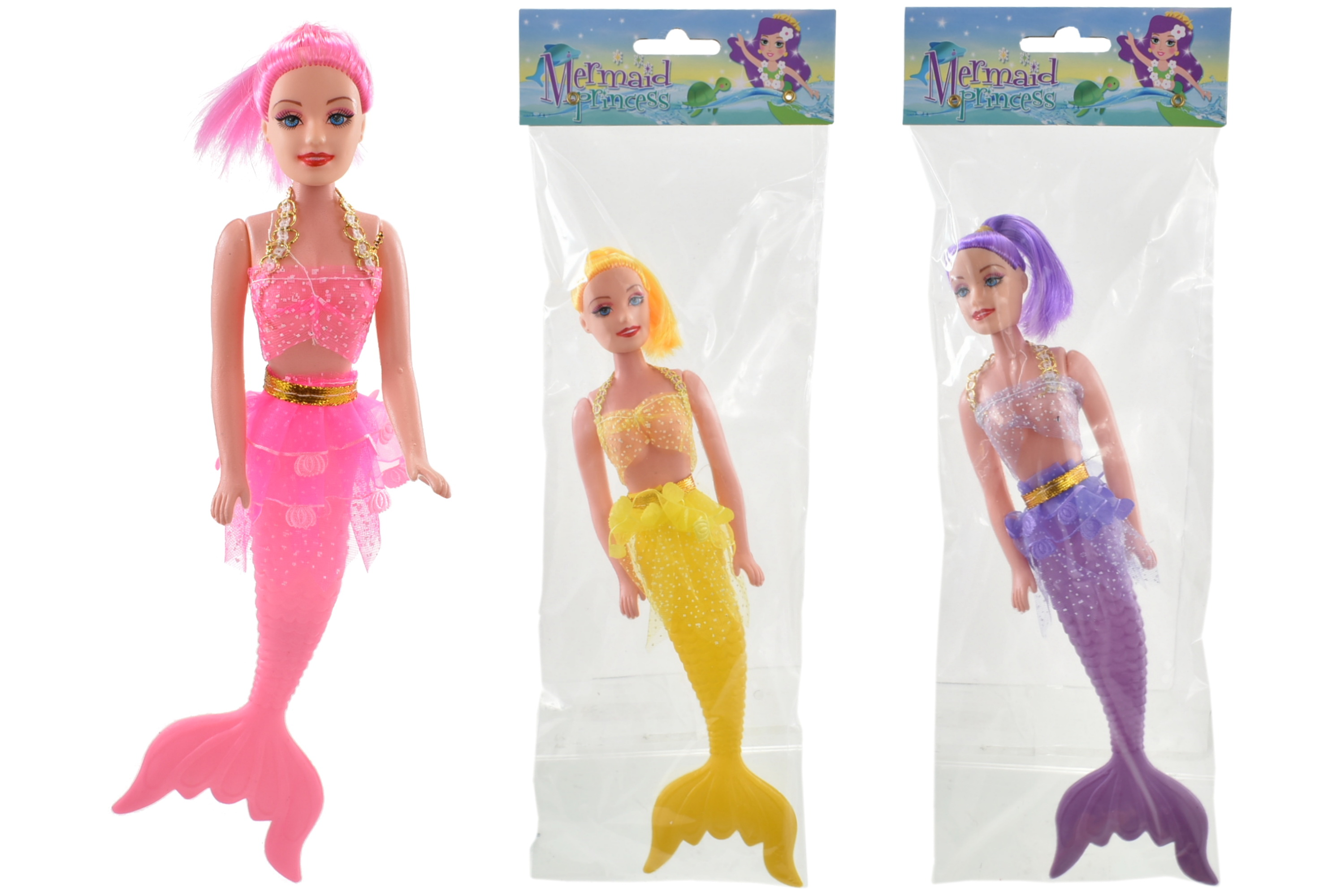 Mermaid Doll (3 Assorted Colours) In Polybag/Headercard
