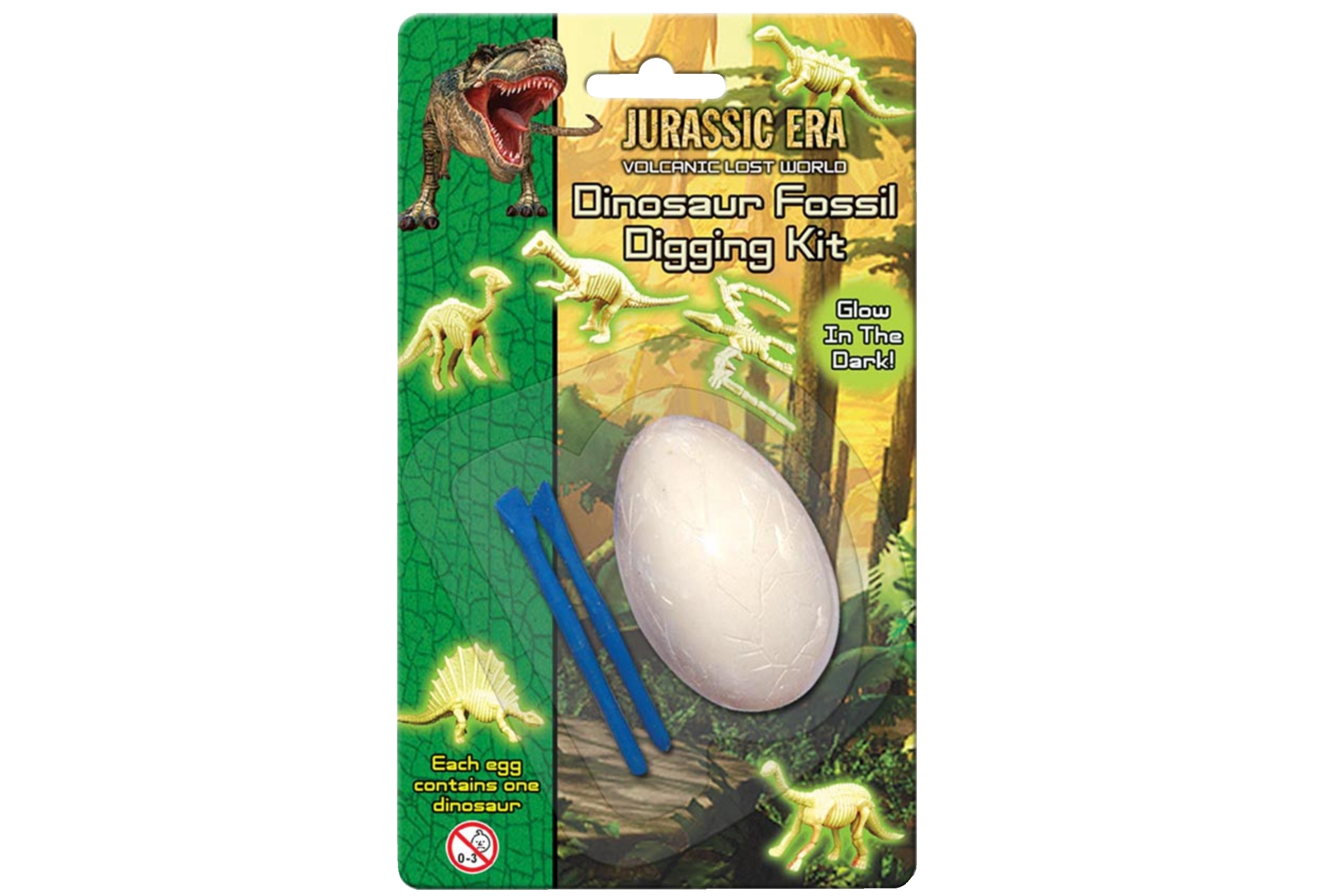 "Dig Out Fossil Egg (2 Asst) On Blistercard ""Jurassic"""