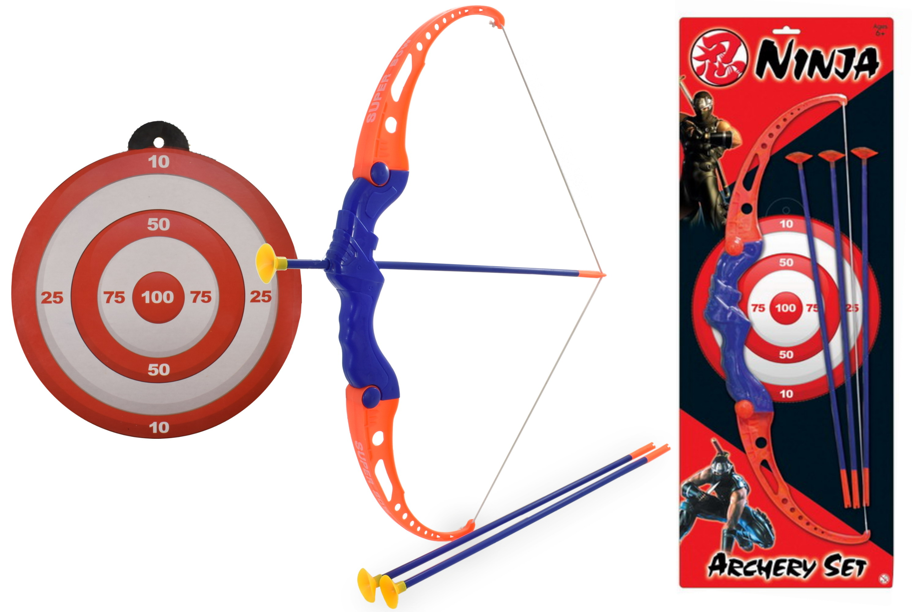 "Plastic Archery Set On Blistercard ""Ninja"""