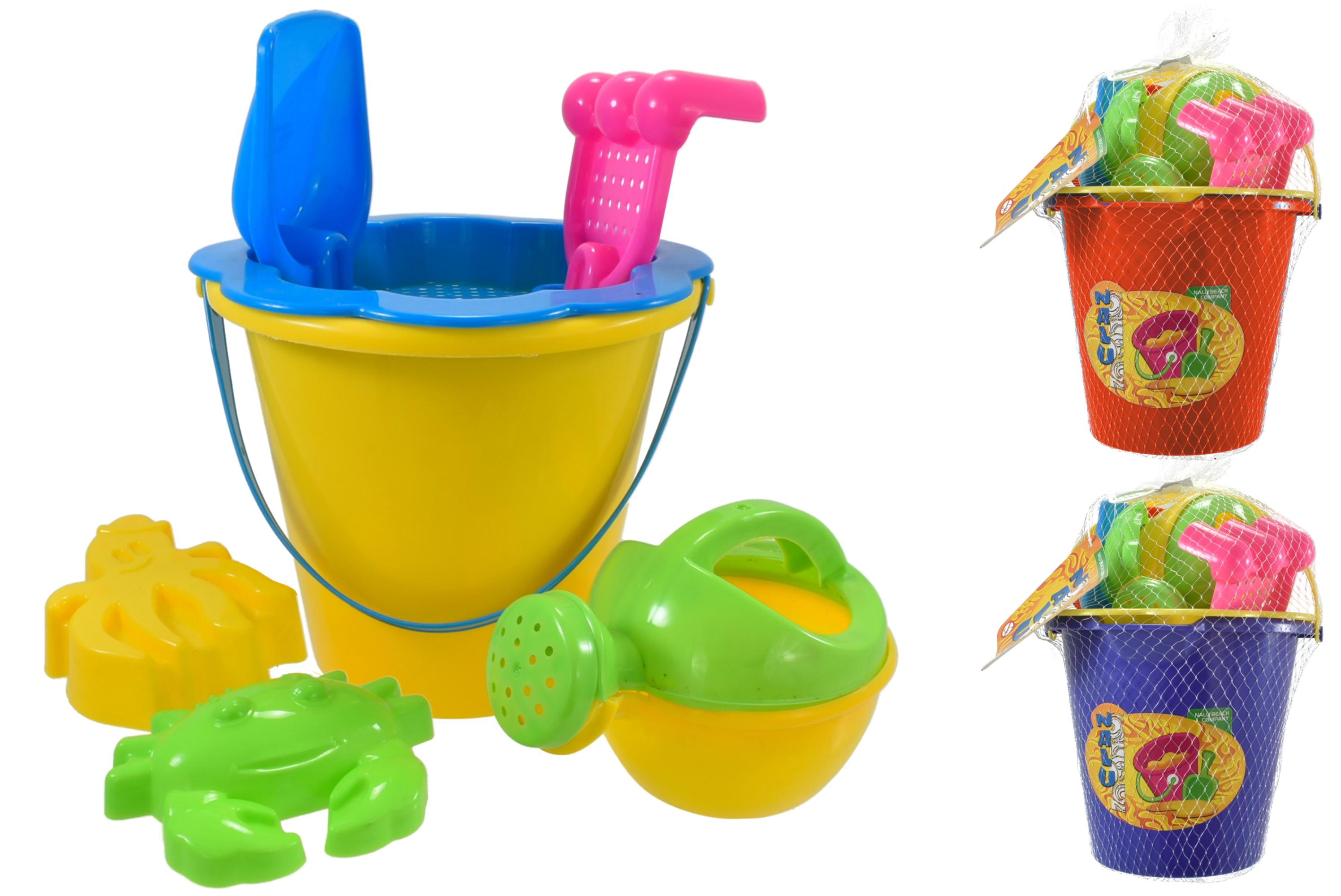 """7pc Round Bucket Set (3 Assorted) In Net Bag """"Nalu"""""""