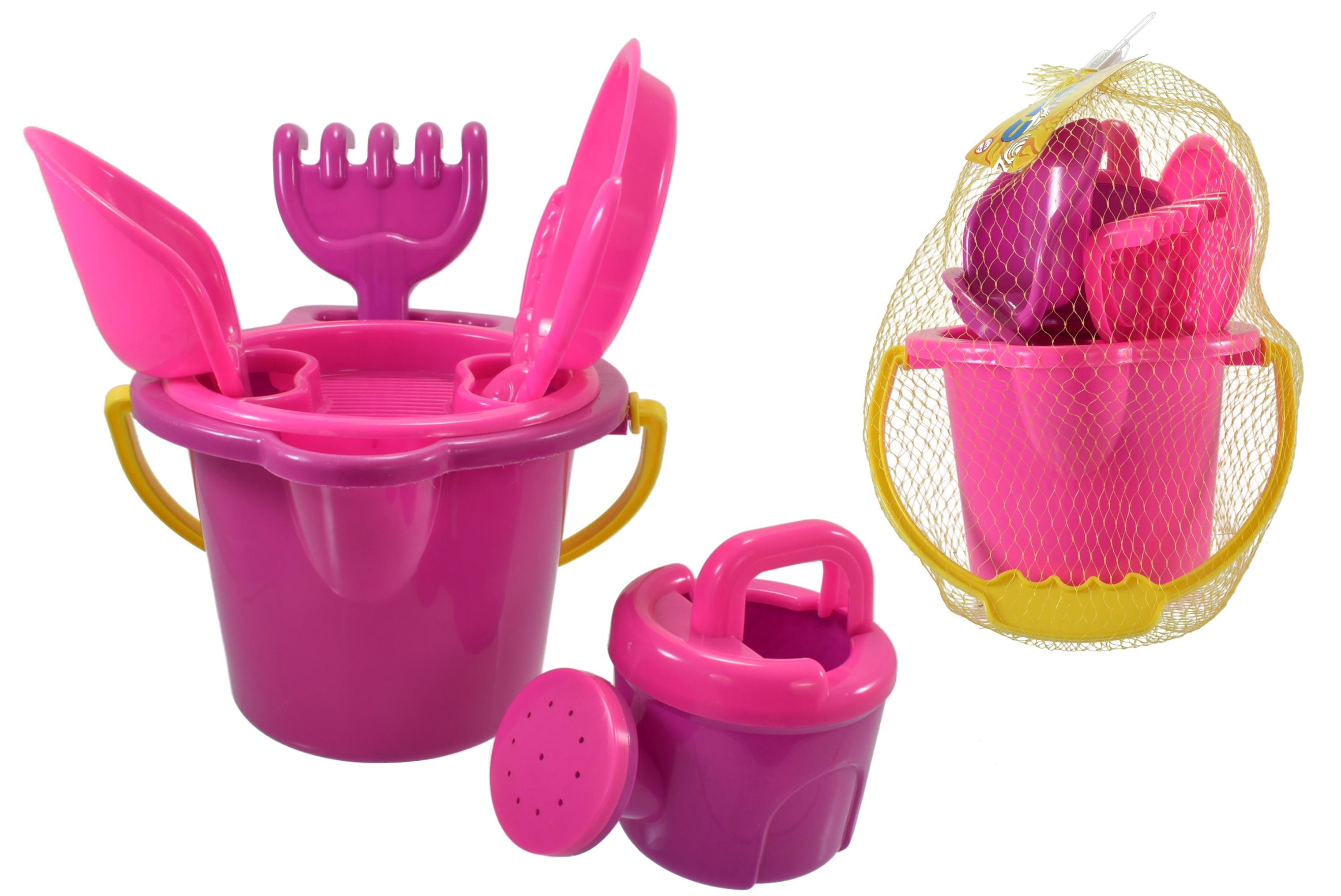 """6pc Round Bucket Set (2 Assorted) In Net Bag """"Nalu"""""""