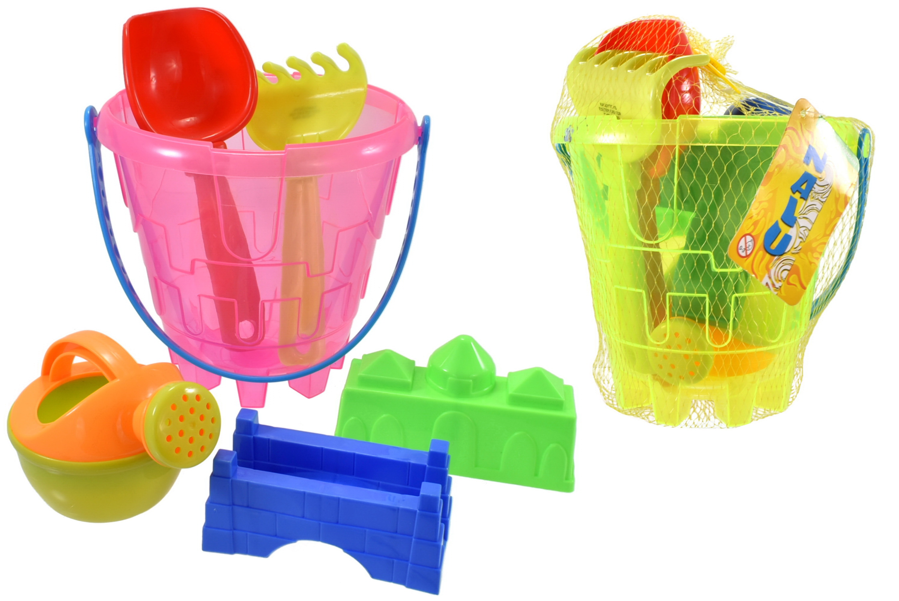 "6pc Transparent Round Castle Bucket Set (3 Asst) ""Nalu"""