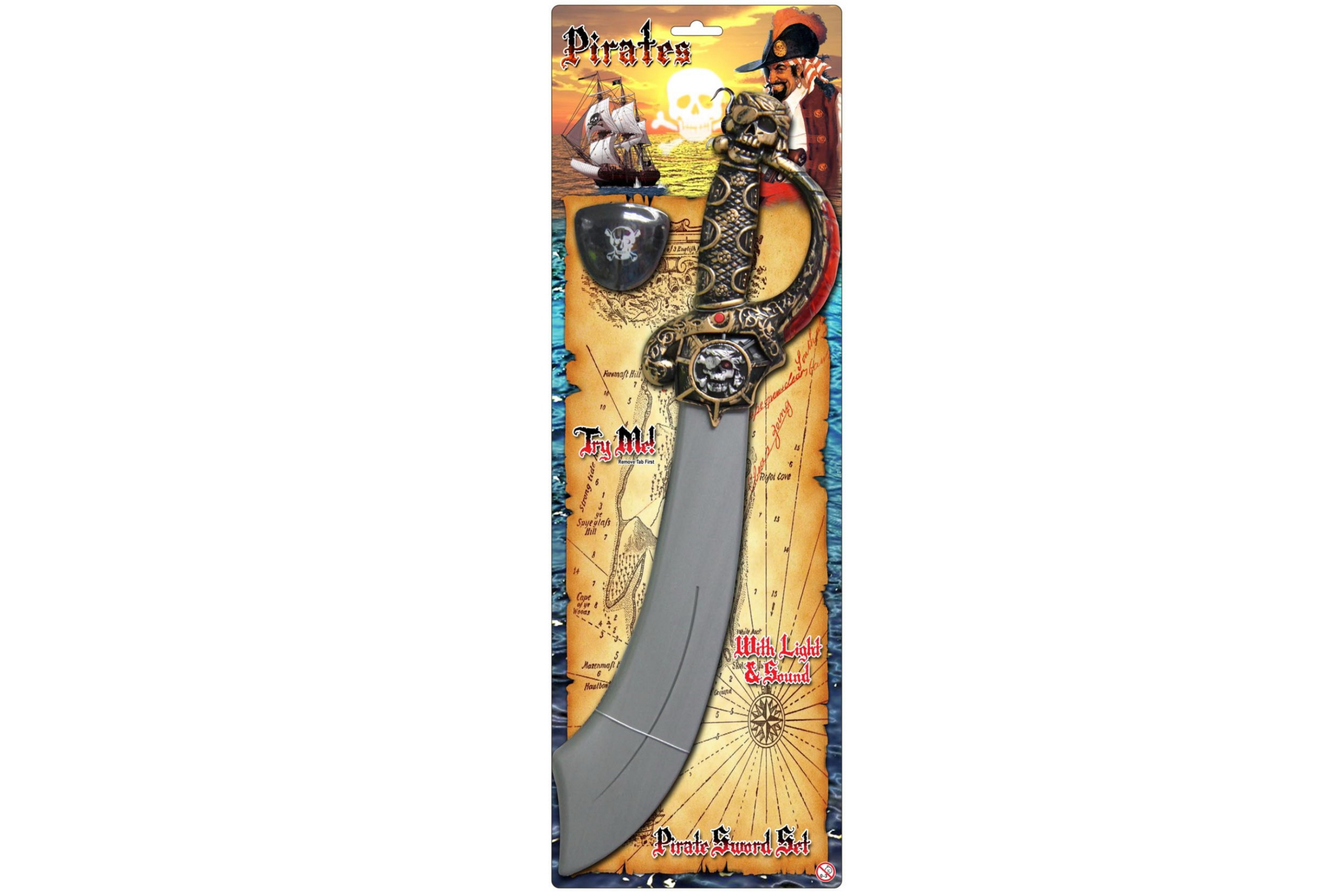 "Pirate Sword With ""Try Me"" Sound & Light ""Pirates"""