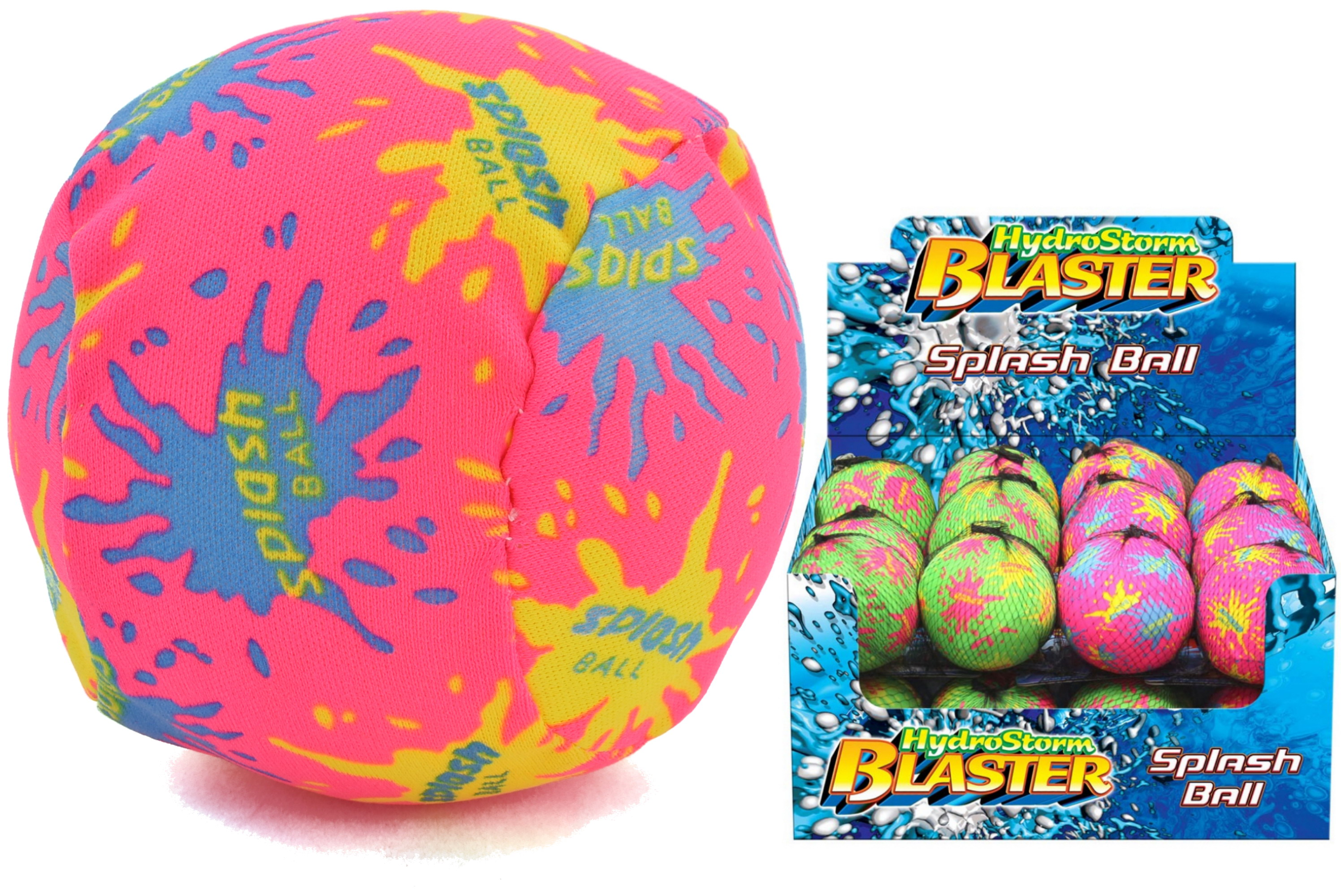 "10cm Splash Ball In Net Hanger/Display Box ""Hydrostorm"""
