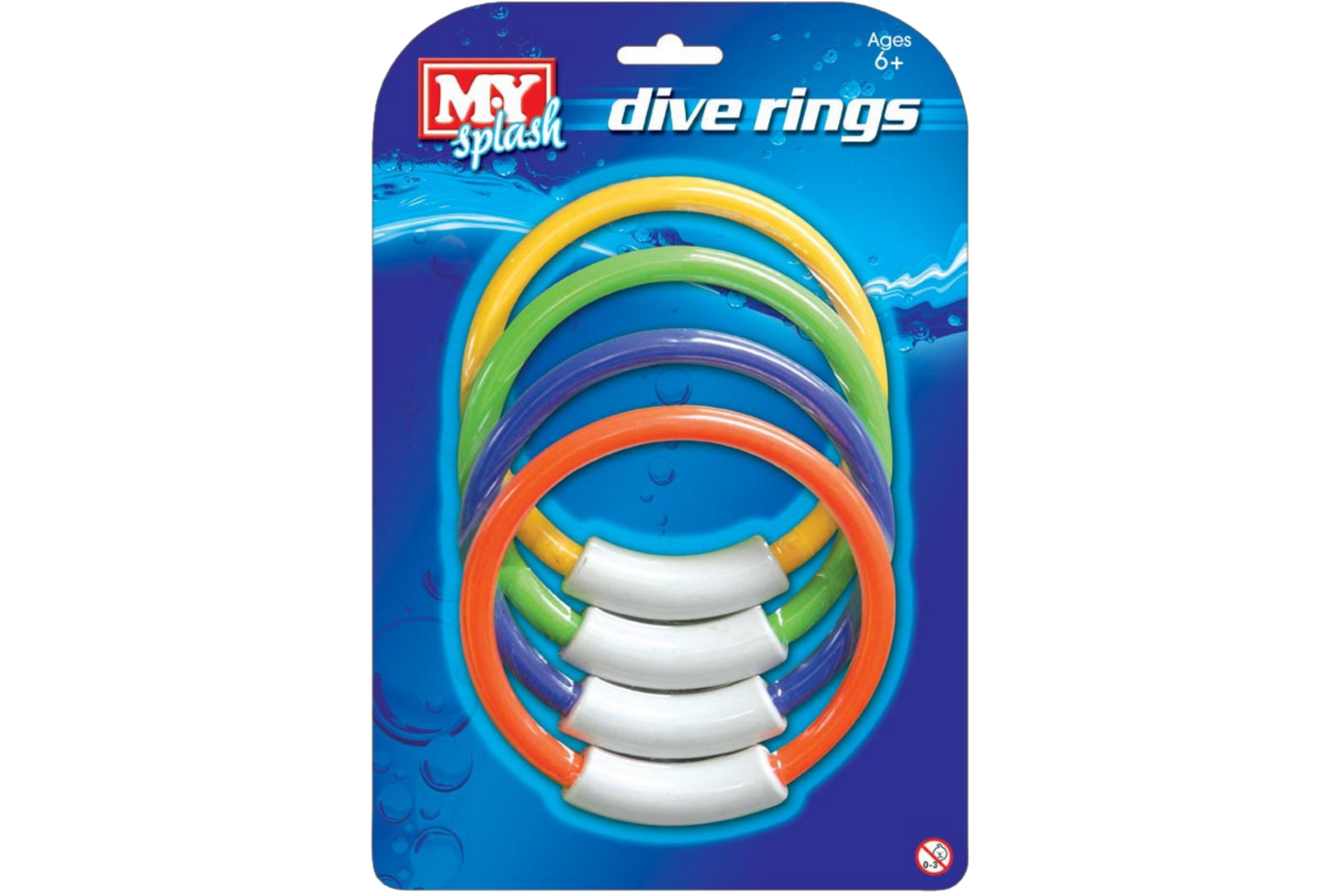 """4pc Dive Rings On Blistercard """"M.Y"""""""