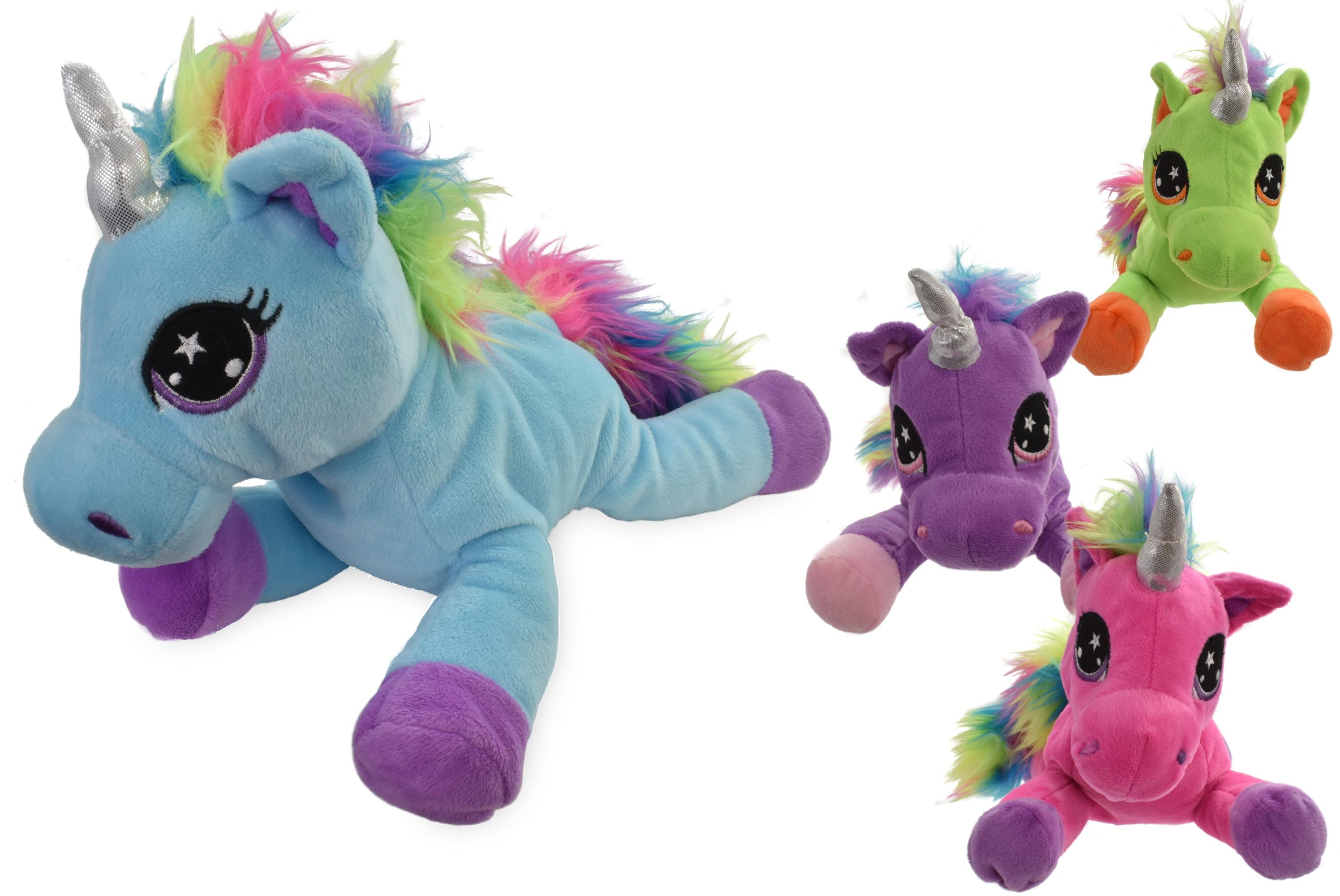 Plush Rainbow Unicorn - 4 Assorted Colours