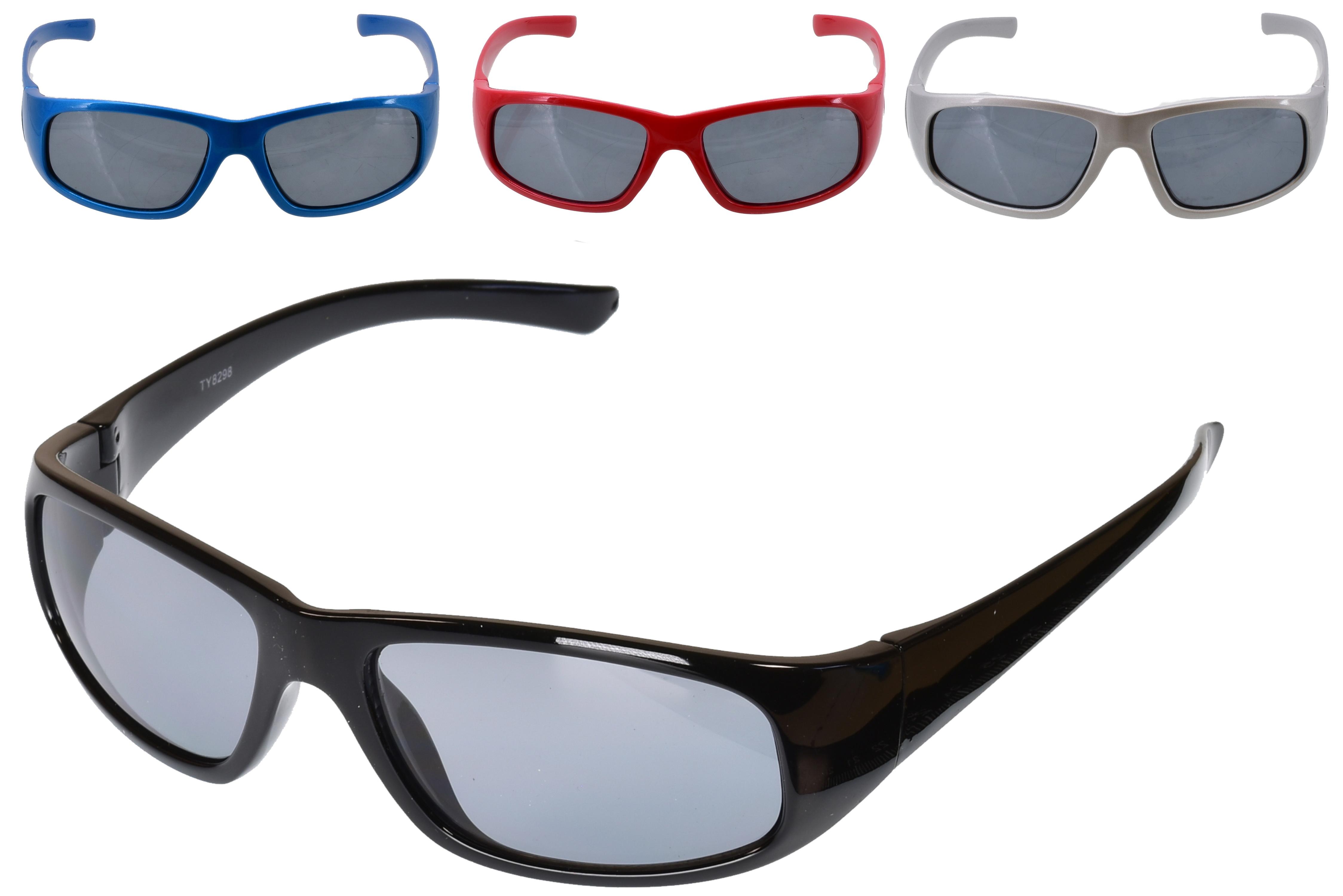 Kids Plastic Wrap Sunglasses - 4 Assorted