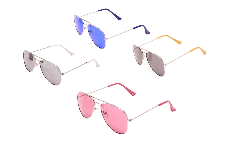 Kids Metal Framed Sunglasses - 4 Assorted