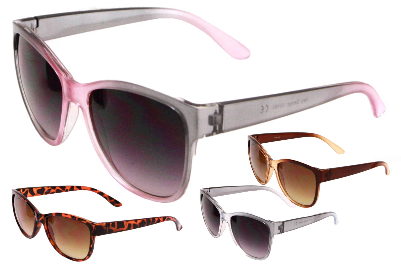 Adult Plastic Frame Designer Sunglasses - 4 Assorted