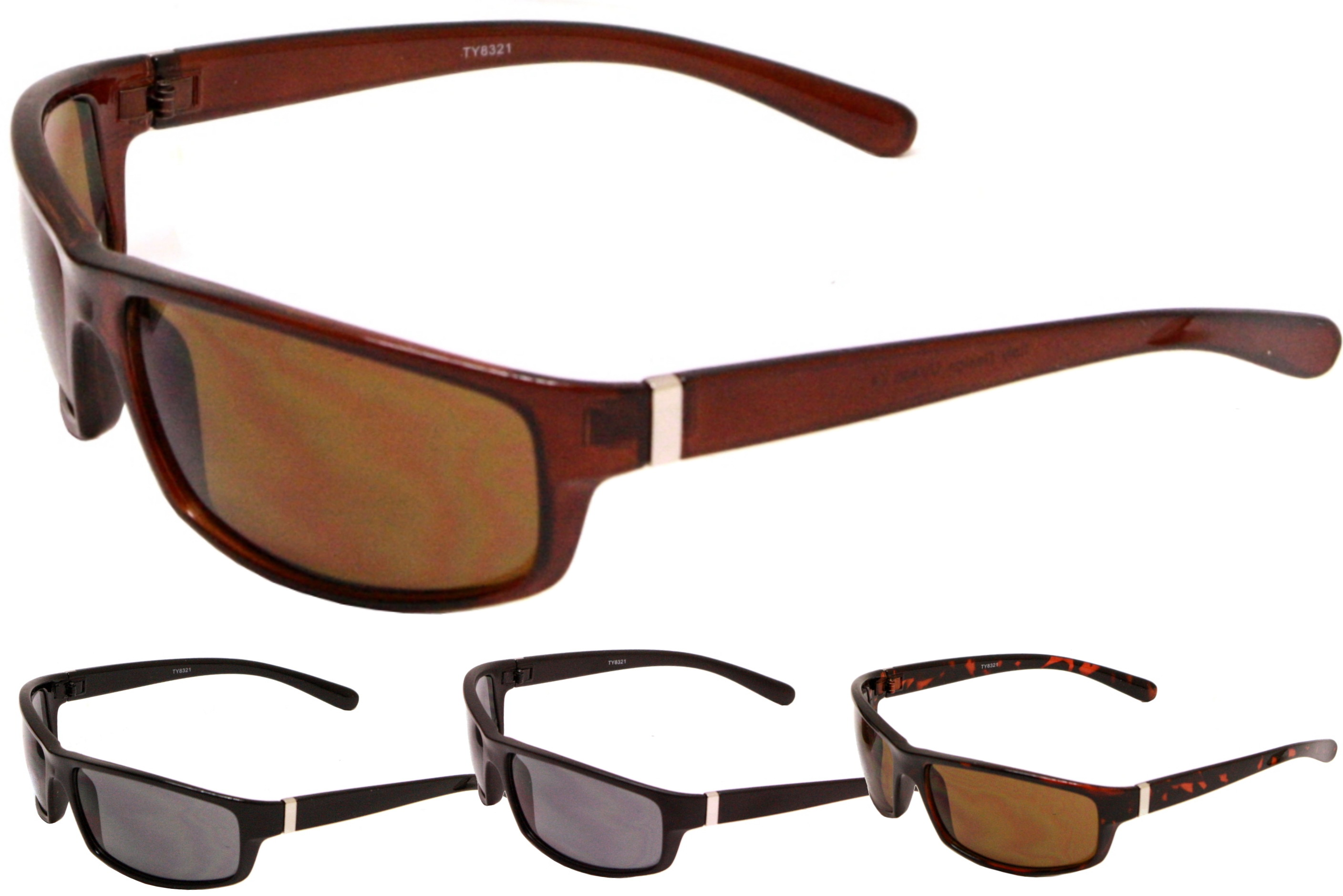 Adult Plastic Wrap Sunglasses - 4 Assorted
