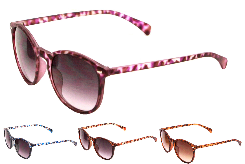 Adult Plastic Demi Printed Frame Sunglasses - 4 Asst