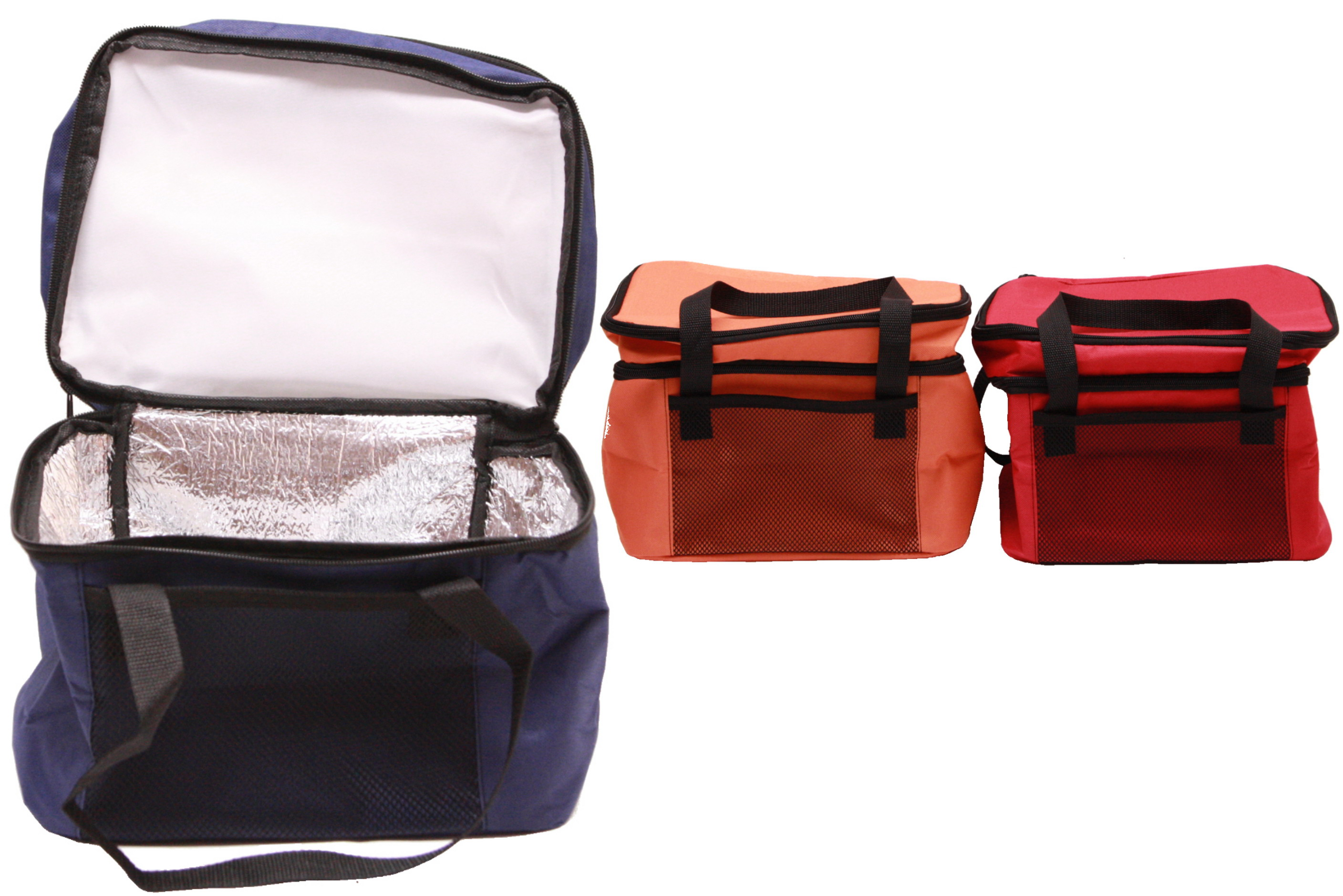 14 Litre Twin Compartment Cool Bag 3 Assorted Colours