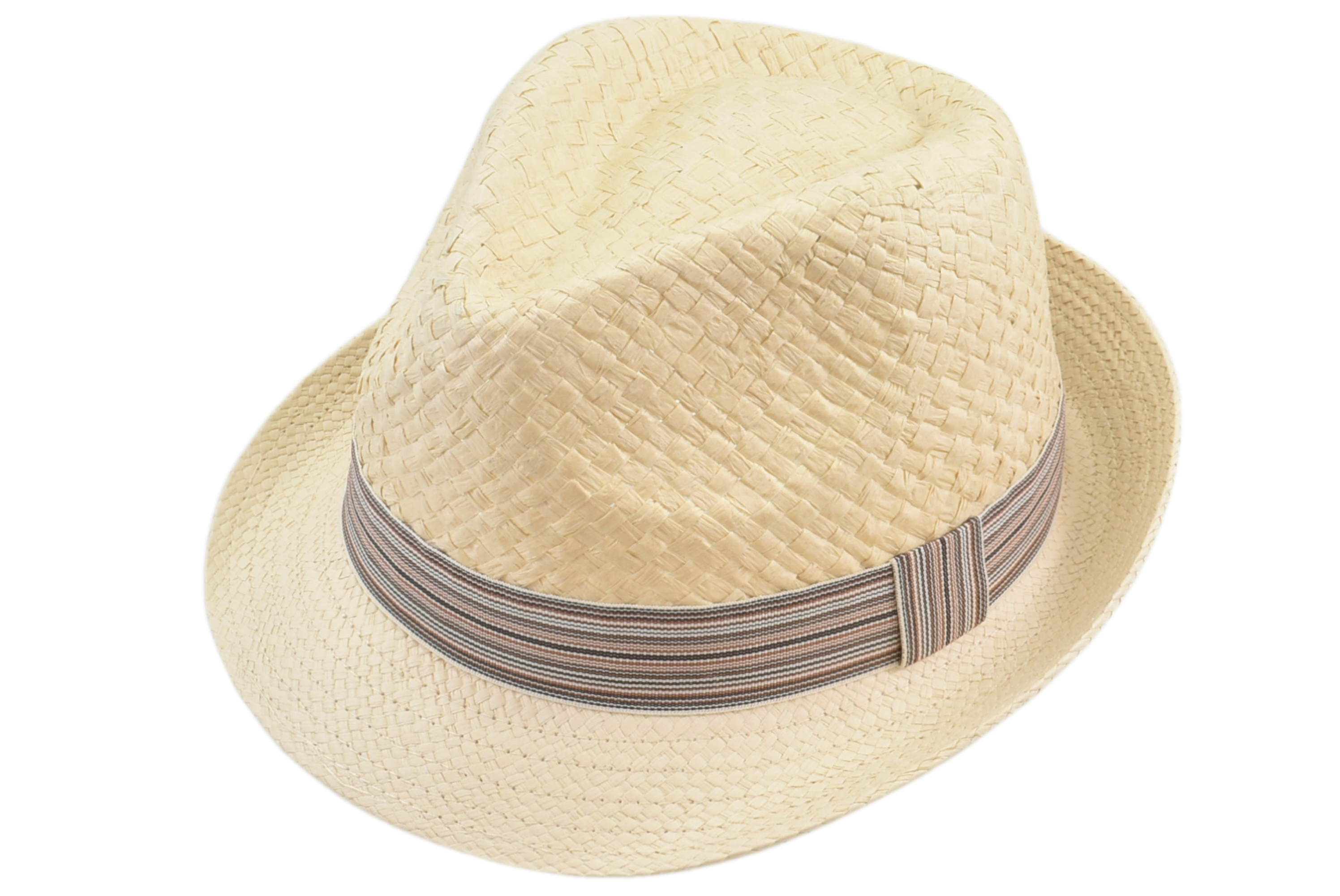 Trilby Hat With Stripey Band