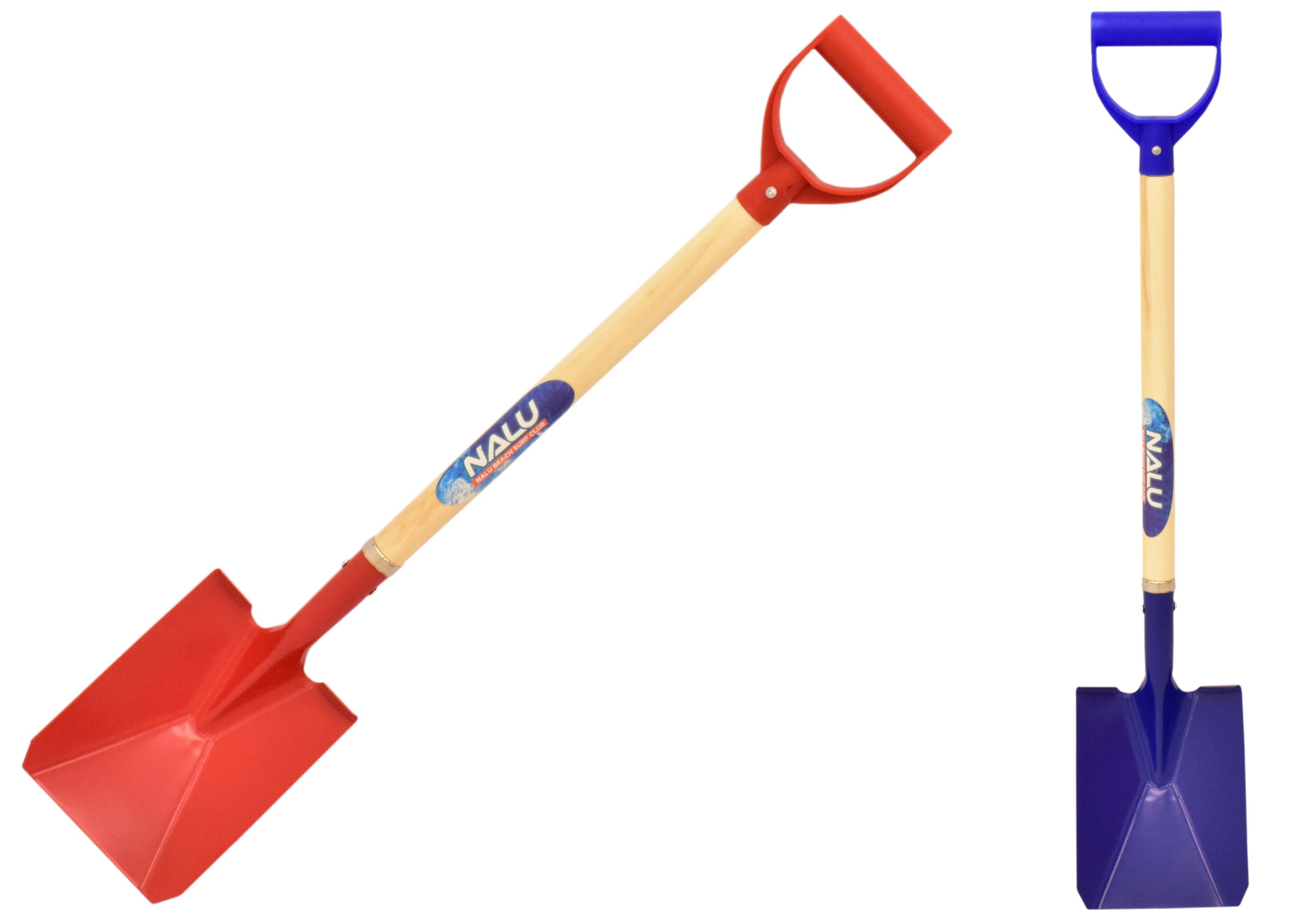 "78cm/31"" Metal Spade - Wood Shaft - Plastic Handle"