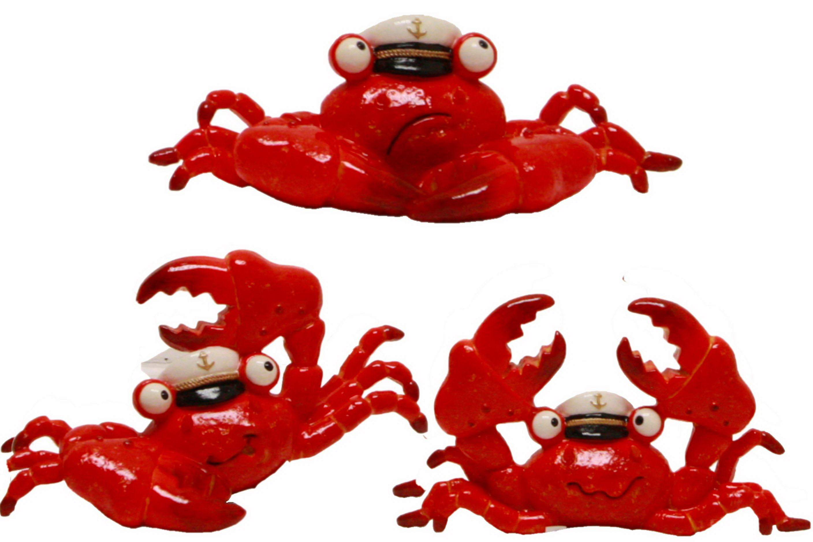 Captain Crab Resin Figurine 14cm 3 Assorted