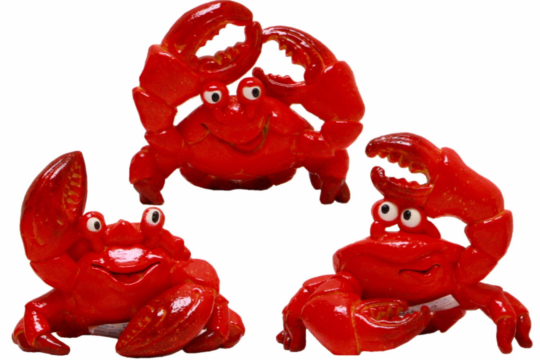 Crab Resin Figurine 11cm 3 Assorted