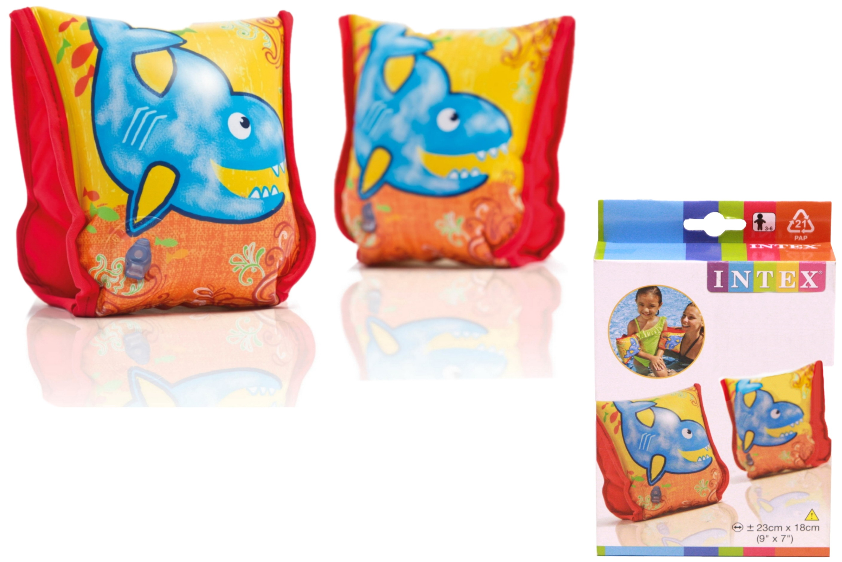 "Aqua Arm Bands 9"" x 7"" (Ages 3-6 Years) In Peg Box"