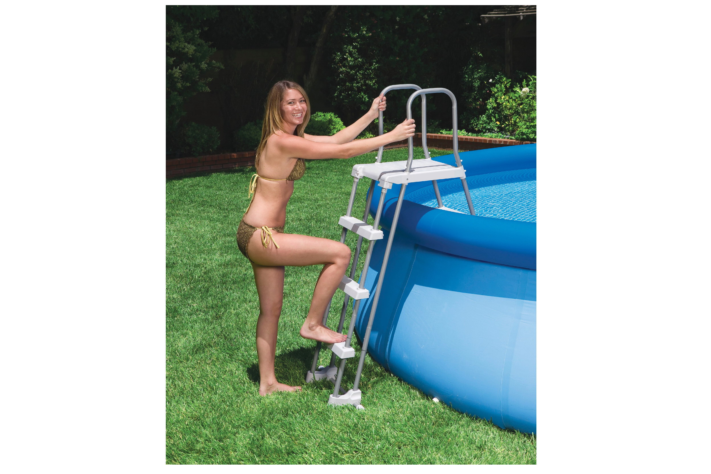 "Pool Ladder With Removable Steps (For 42"" & 36"" Height)"