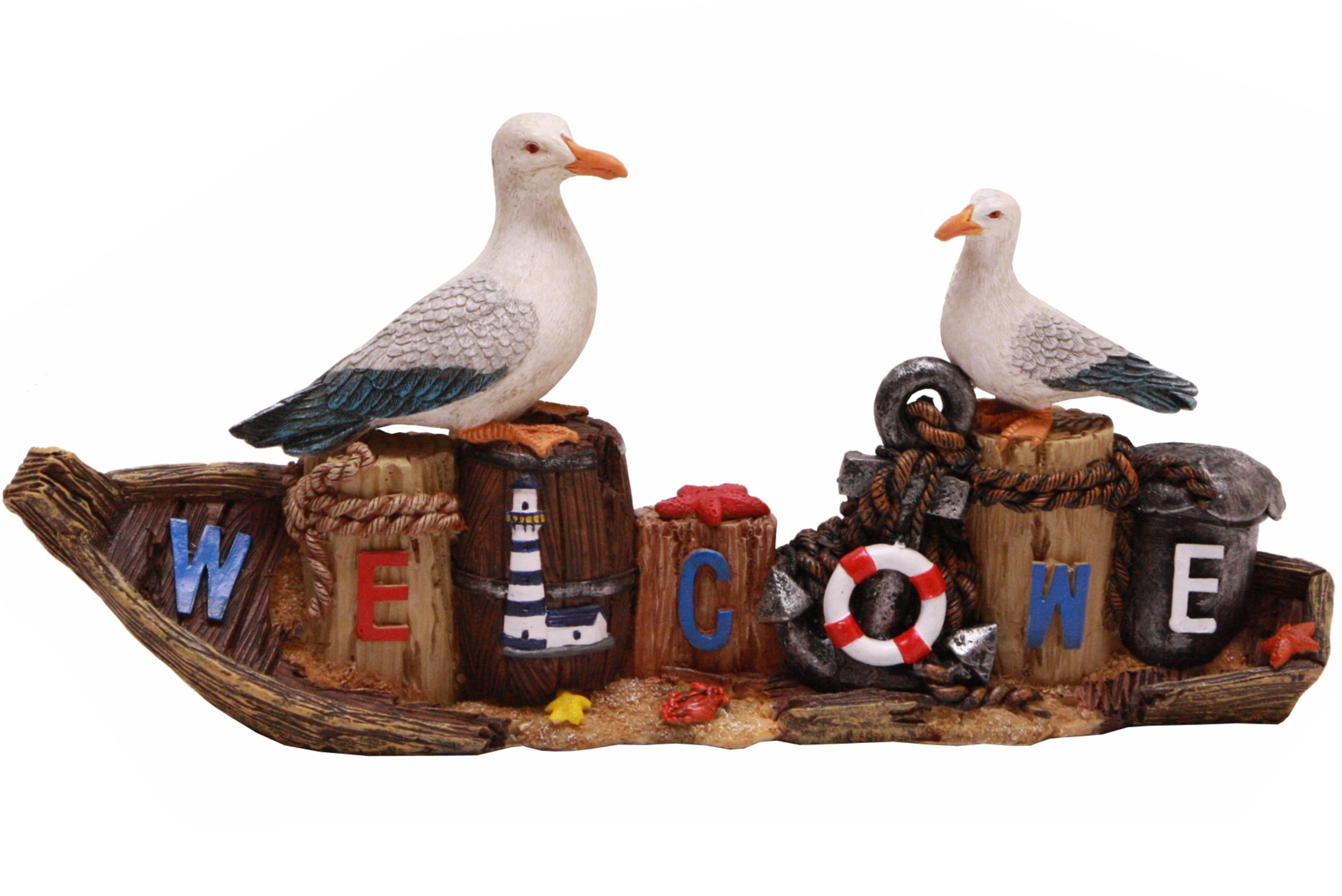 Seagull Welcome Plaque 28cm