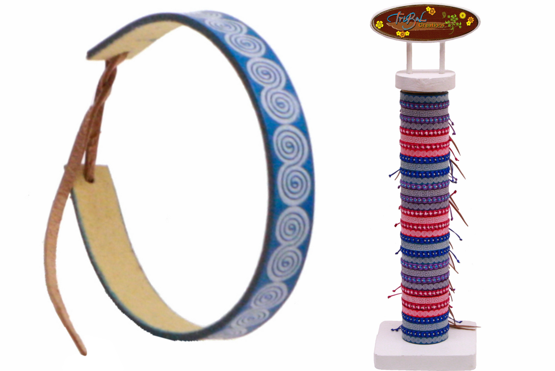 Pastel Coloured Friendship Bracelet On Display Tube