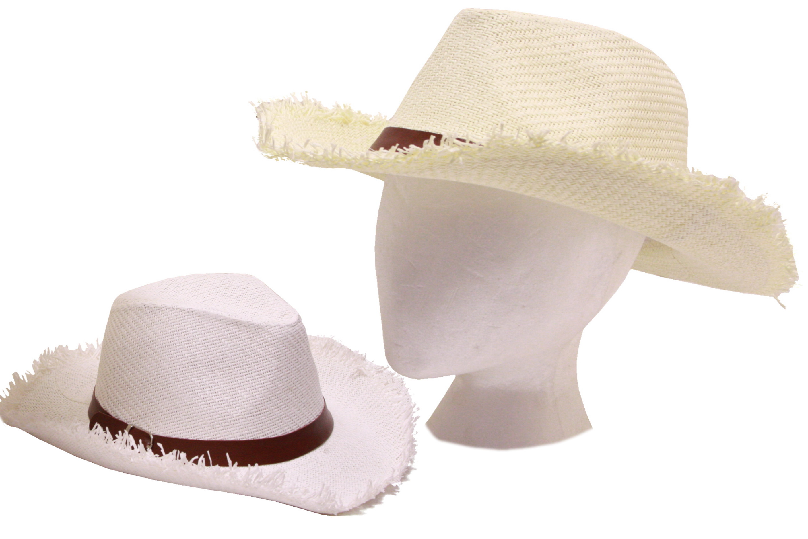 Fashion Panama Hat With Black Band - 2 Assorted Colours