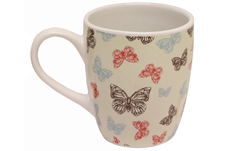 Butterfly Design Ceramic Mug