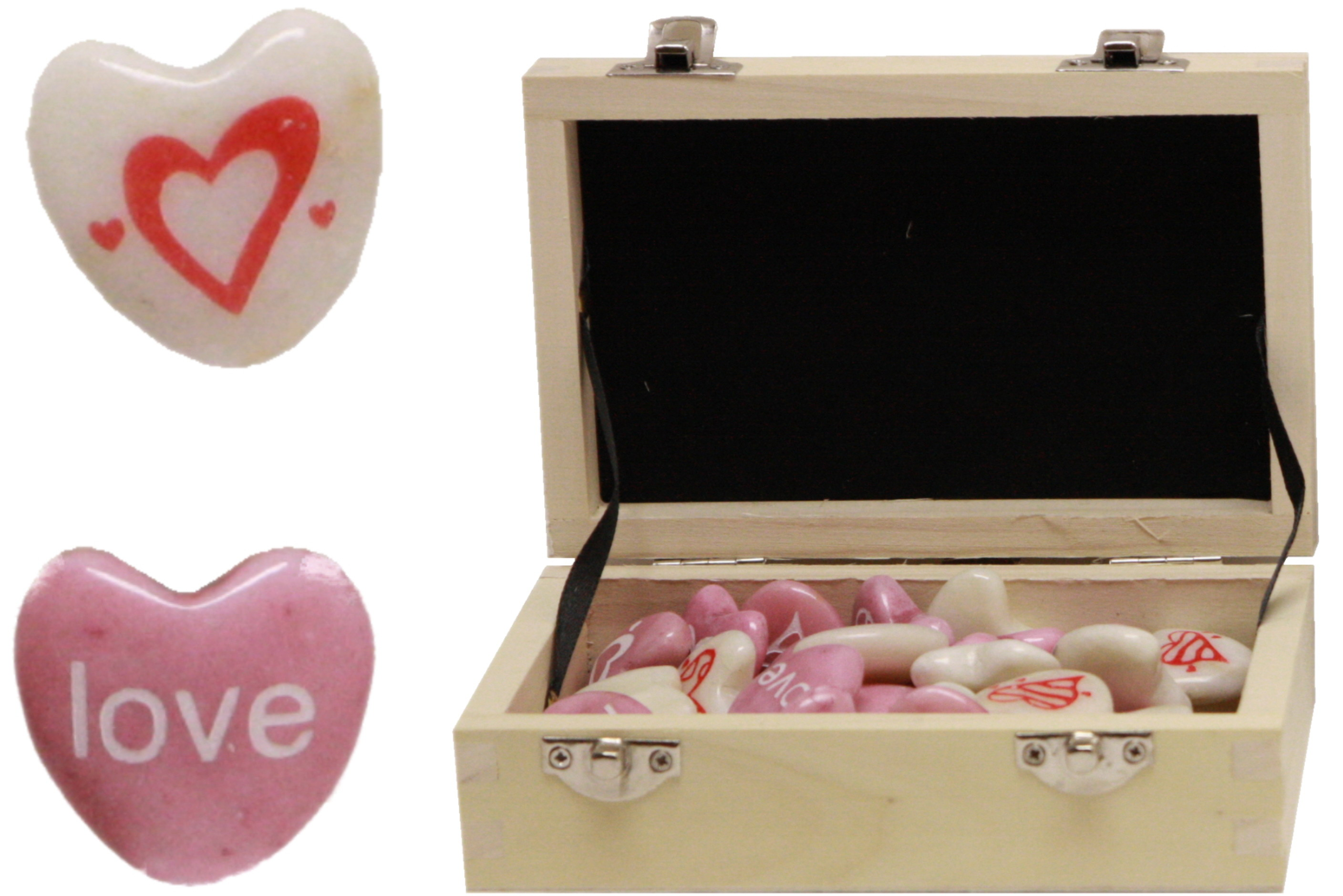 Stone Heart 3cm (Assorted) In Display Box