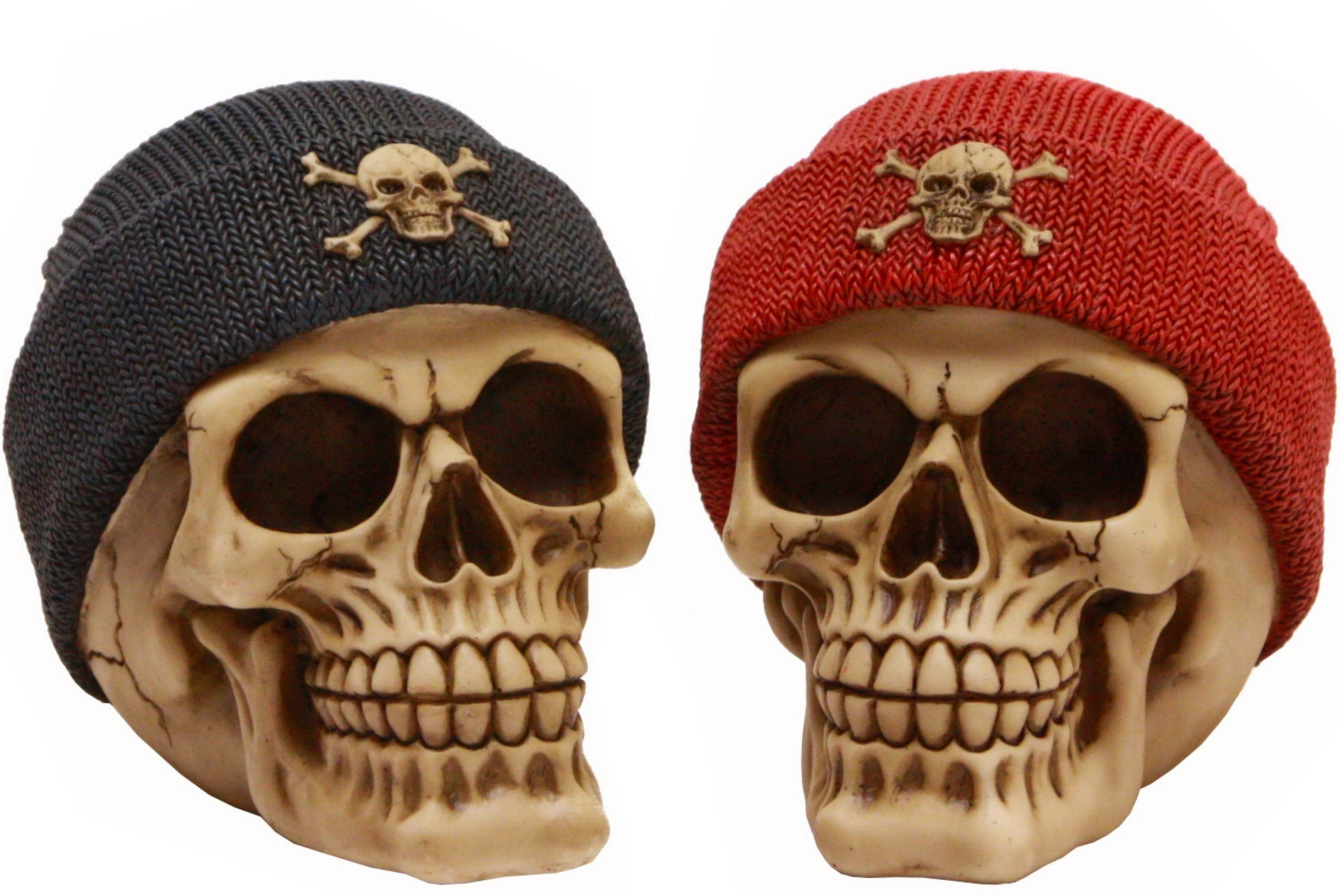 Skull Moneybox With Beanie 2 Assorted