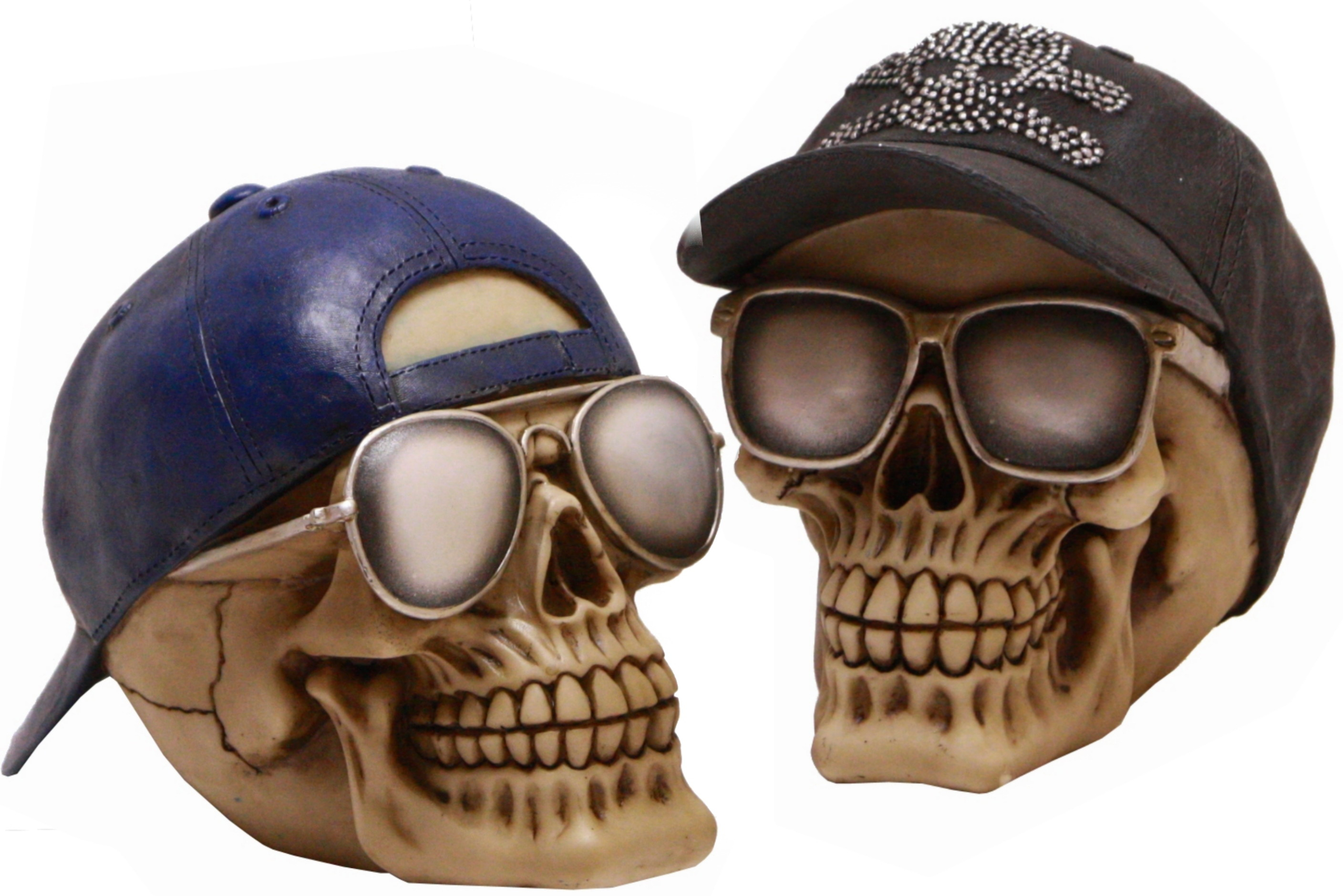 Skull Moneybox With Cap 2 Assorted