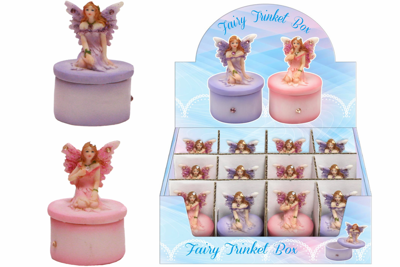 Resin Mini Fairy Trinket Box In Display Box