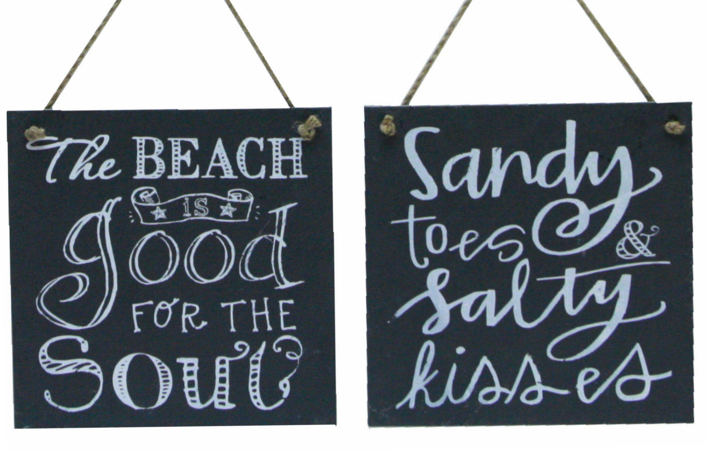 """Slate Hanger 25cm """"Beach Days"""""""