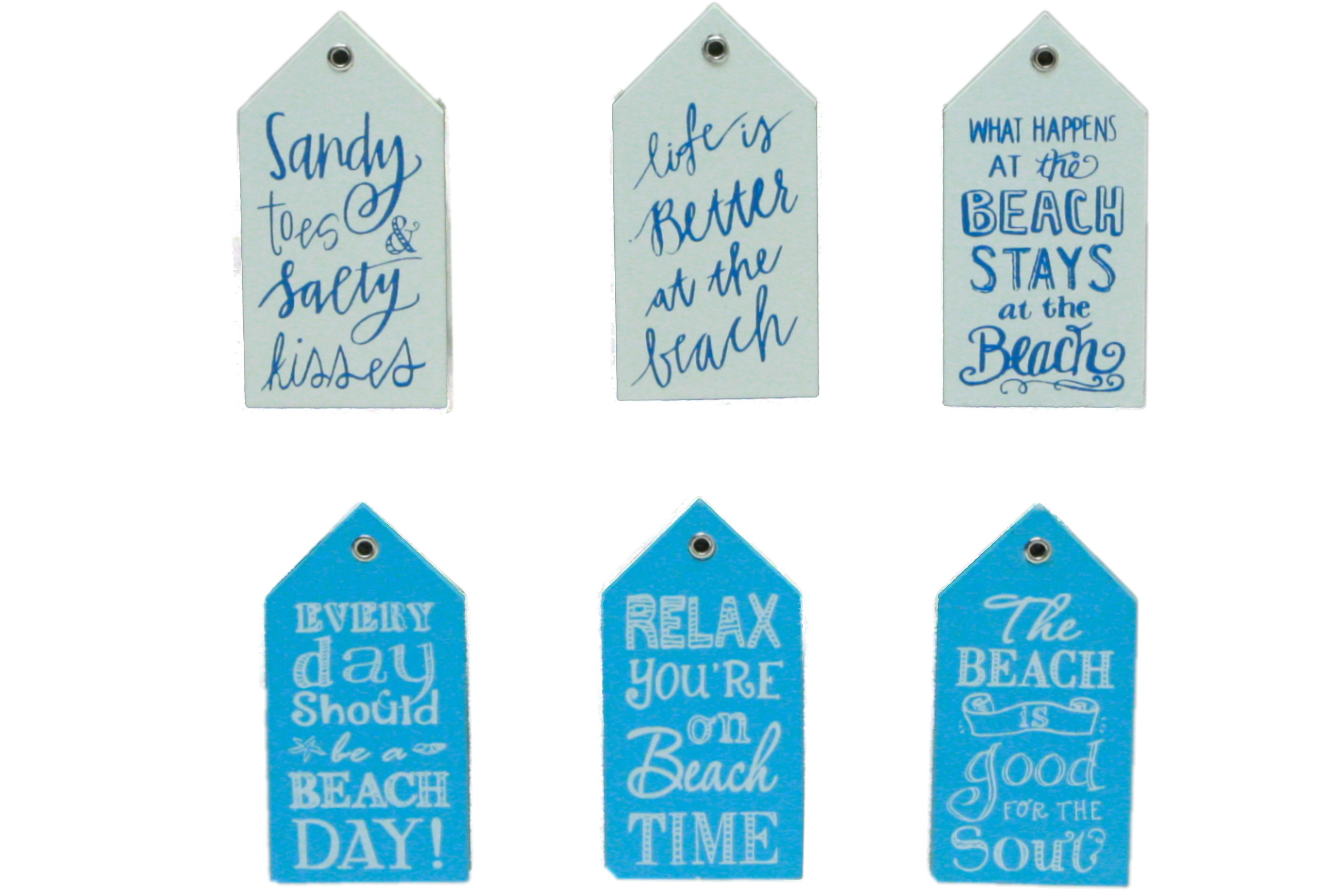 """Wooden Phrase Magnet On Display Stand """"Beach Days"""""""