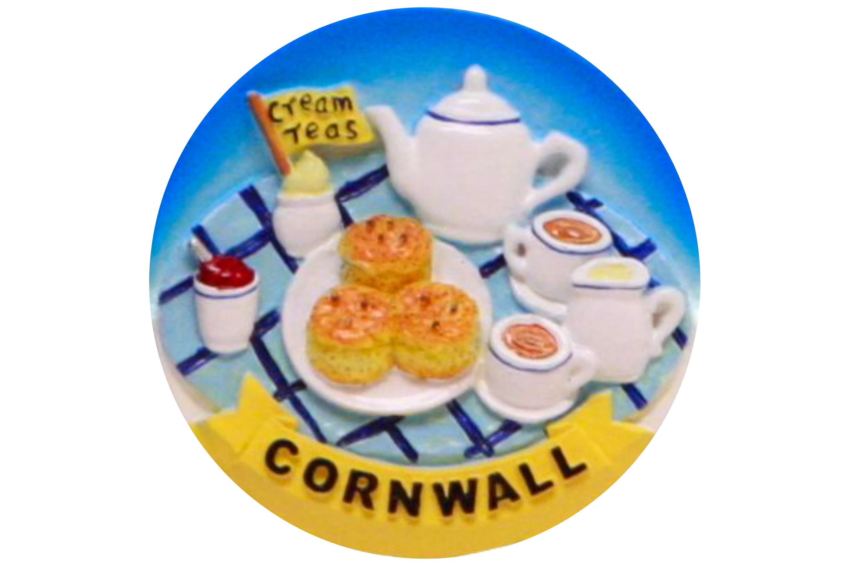 Cornwall Cream Tea Magnet 6cm