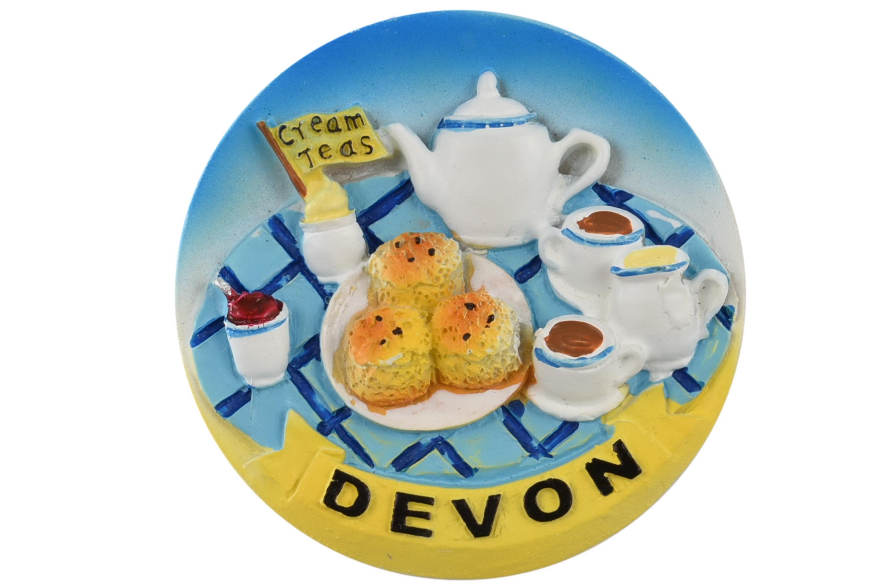 Devon Cream Tea Magnet 6cm
