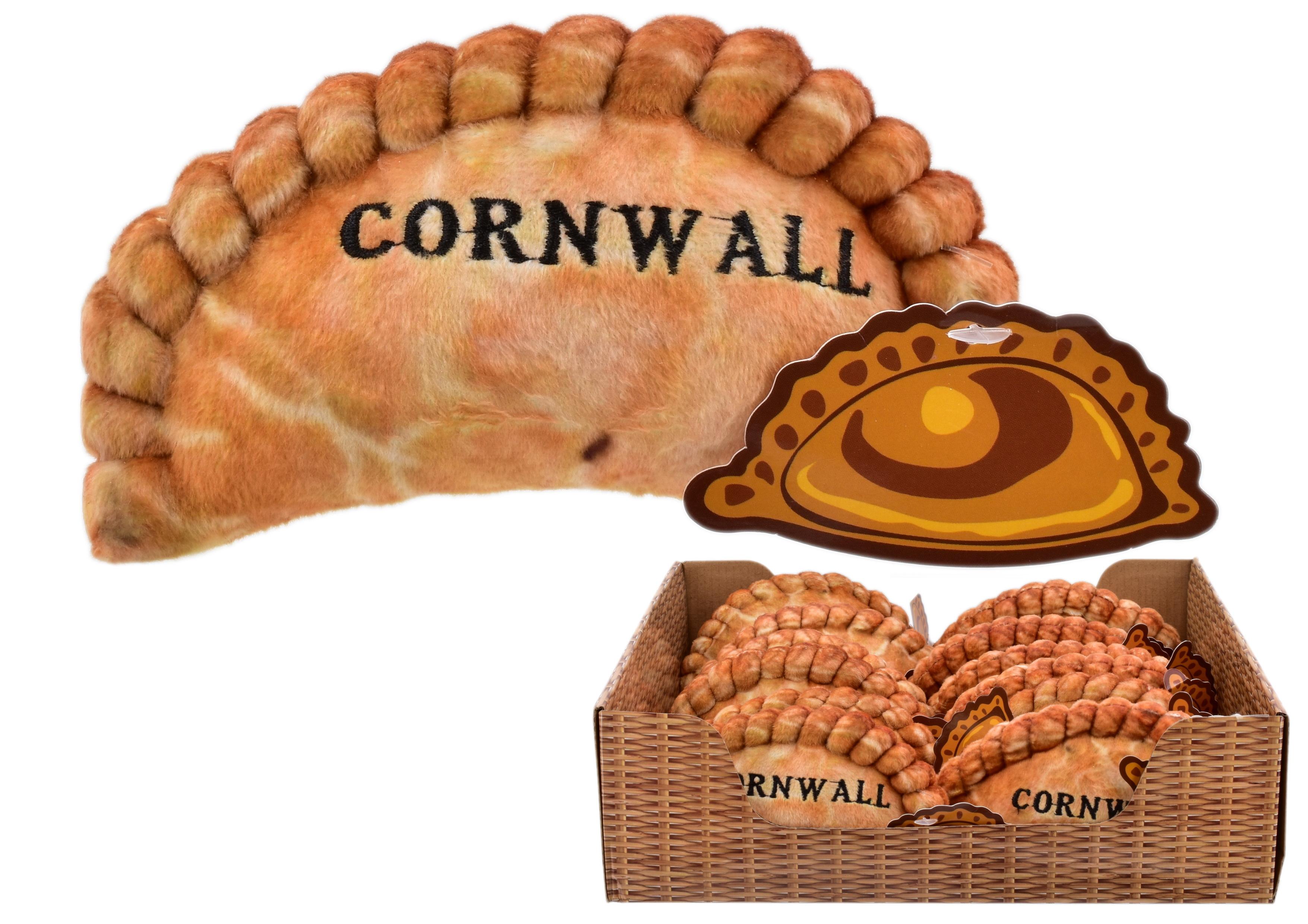 15cm Plush Pasty Cornwall In Display Box
