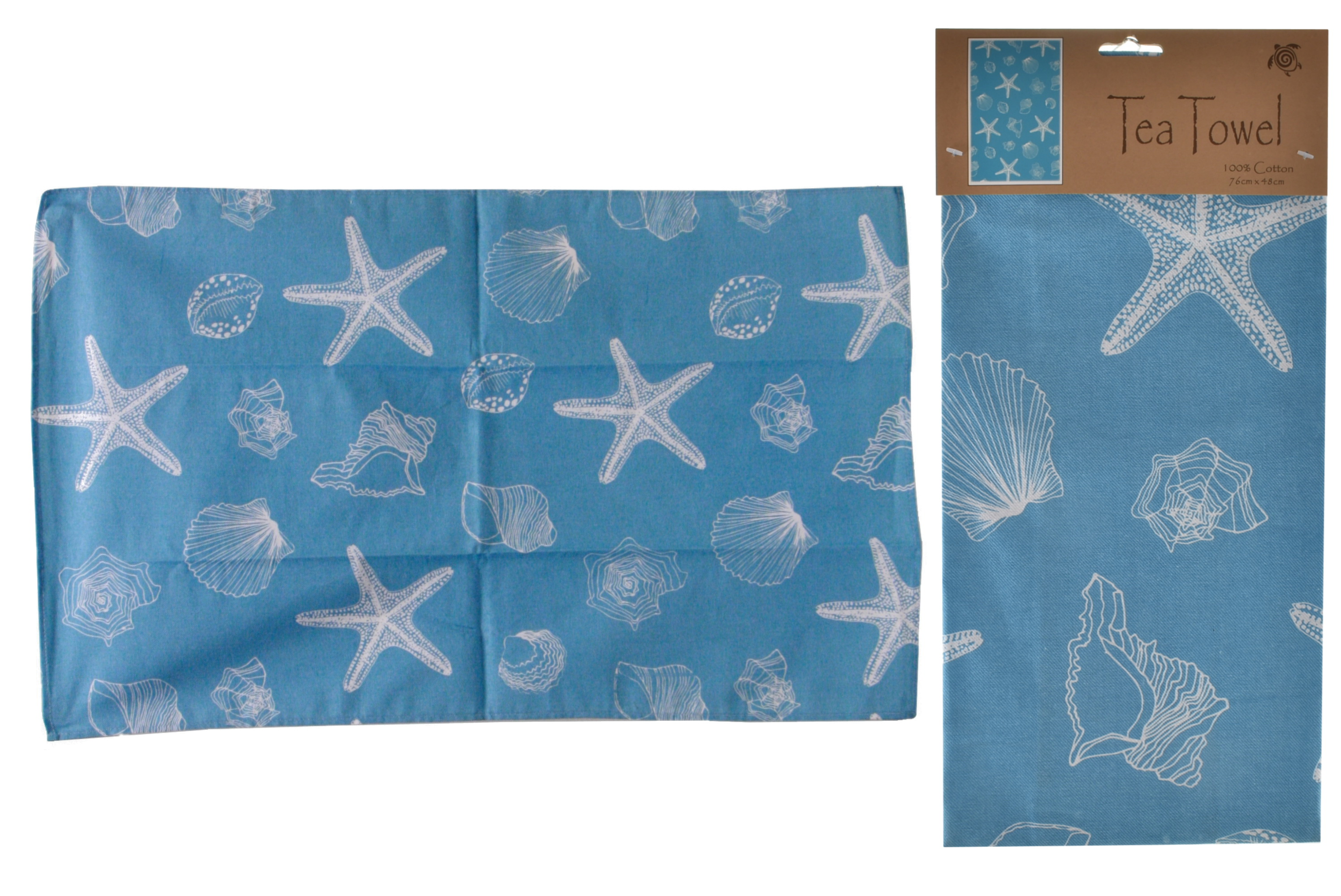 Shell Design Tea Towel 76cm x 48cm